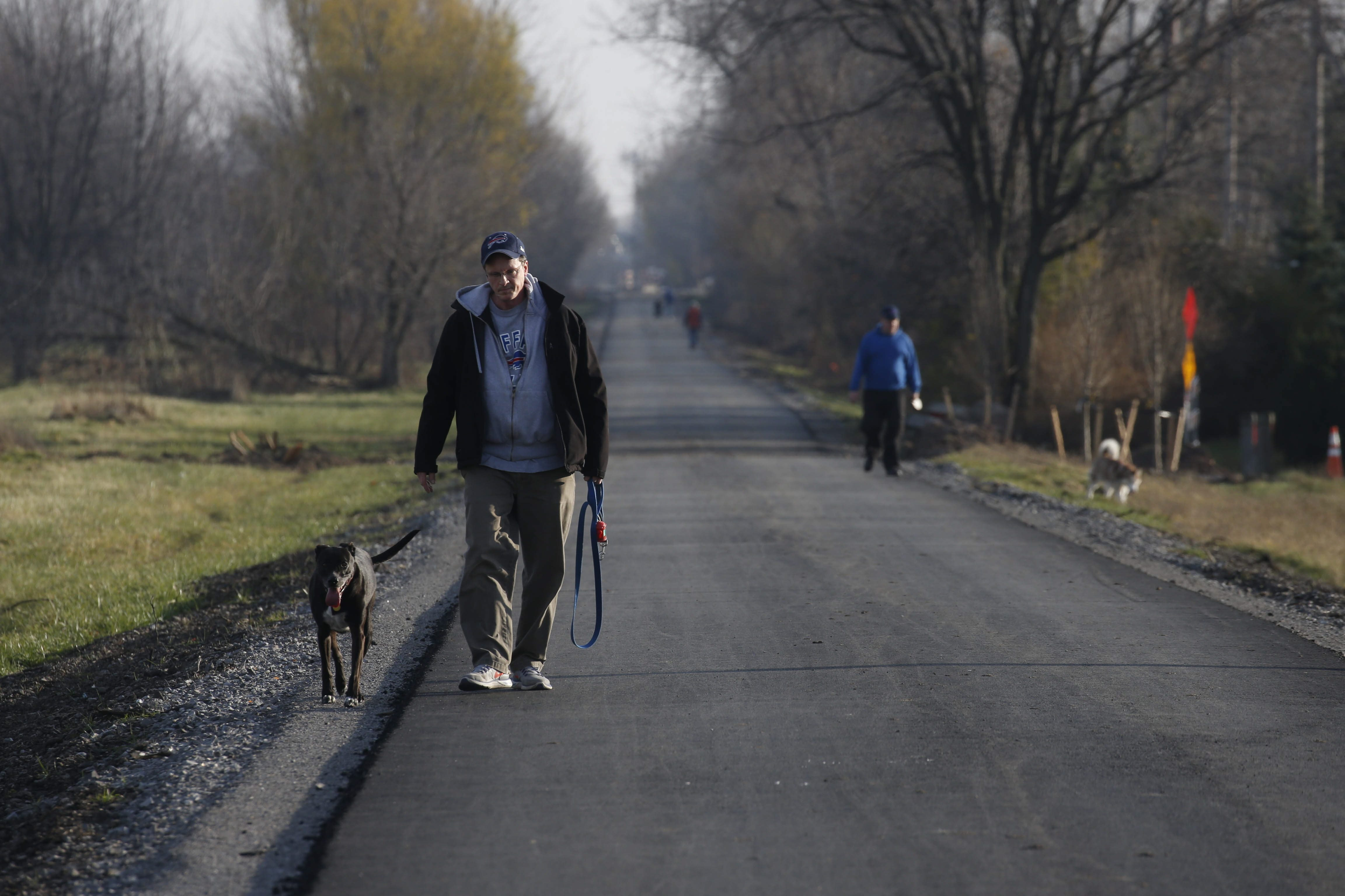 The Rails to Trails path is a vital part of the town's Complete Streets initiative. Photo by Robert Kirkham / Buffalo News