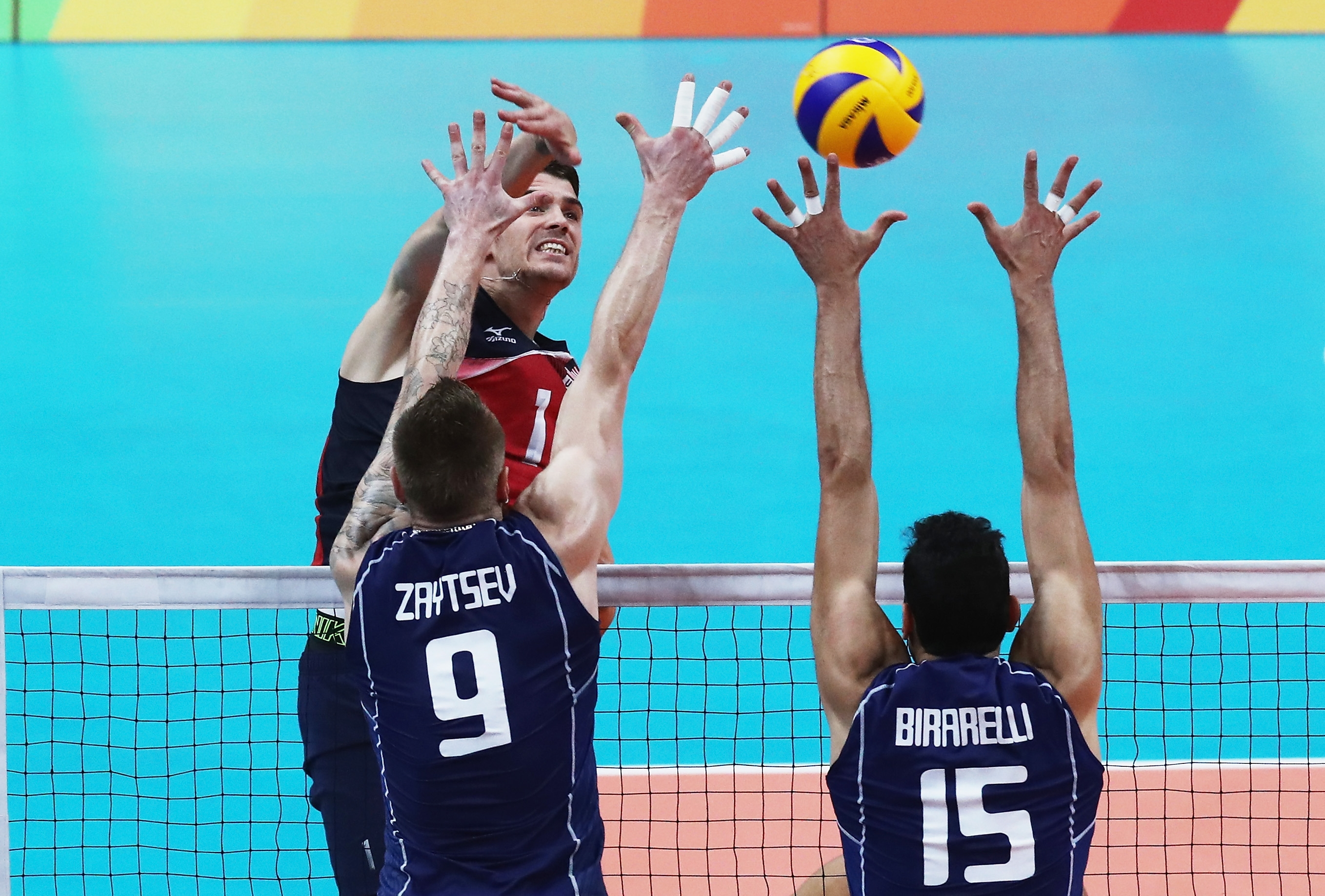 Matthew Anderson and his American team came up a little short in a five-set match against Italy on Friday.