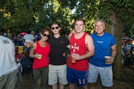 Smiles at Fredtown Stompers at Picnic in the Parkway