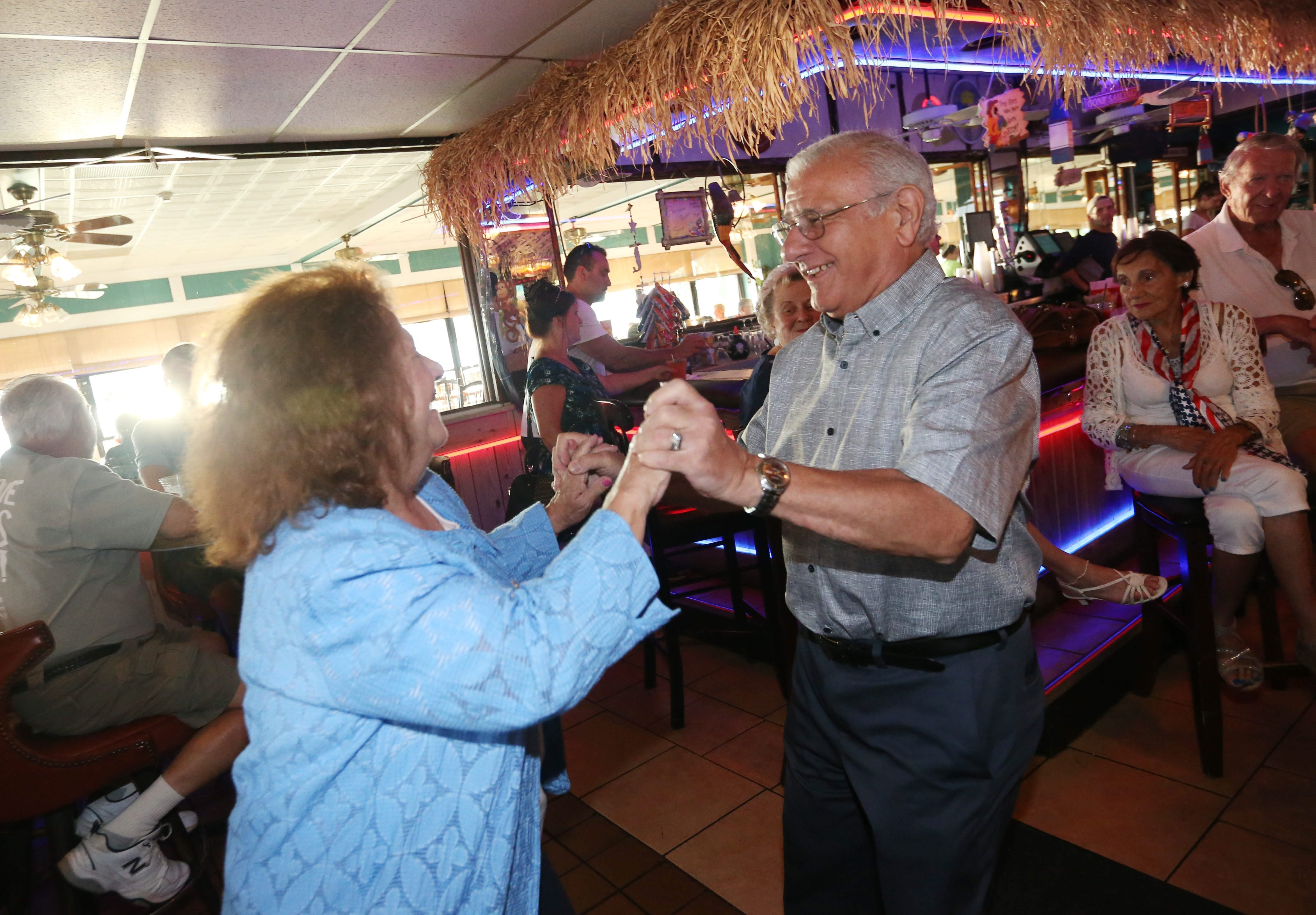 Vince and Vera Philippine of the Town of Tonawanda dance to the tunes of crooner Jack Civilietto at The Shores Waterfront Restaurant in North Tonawanda.