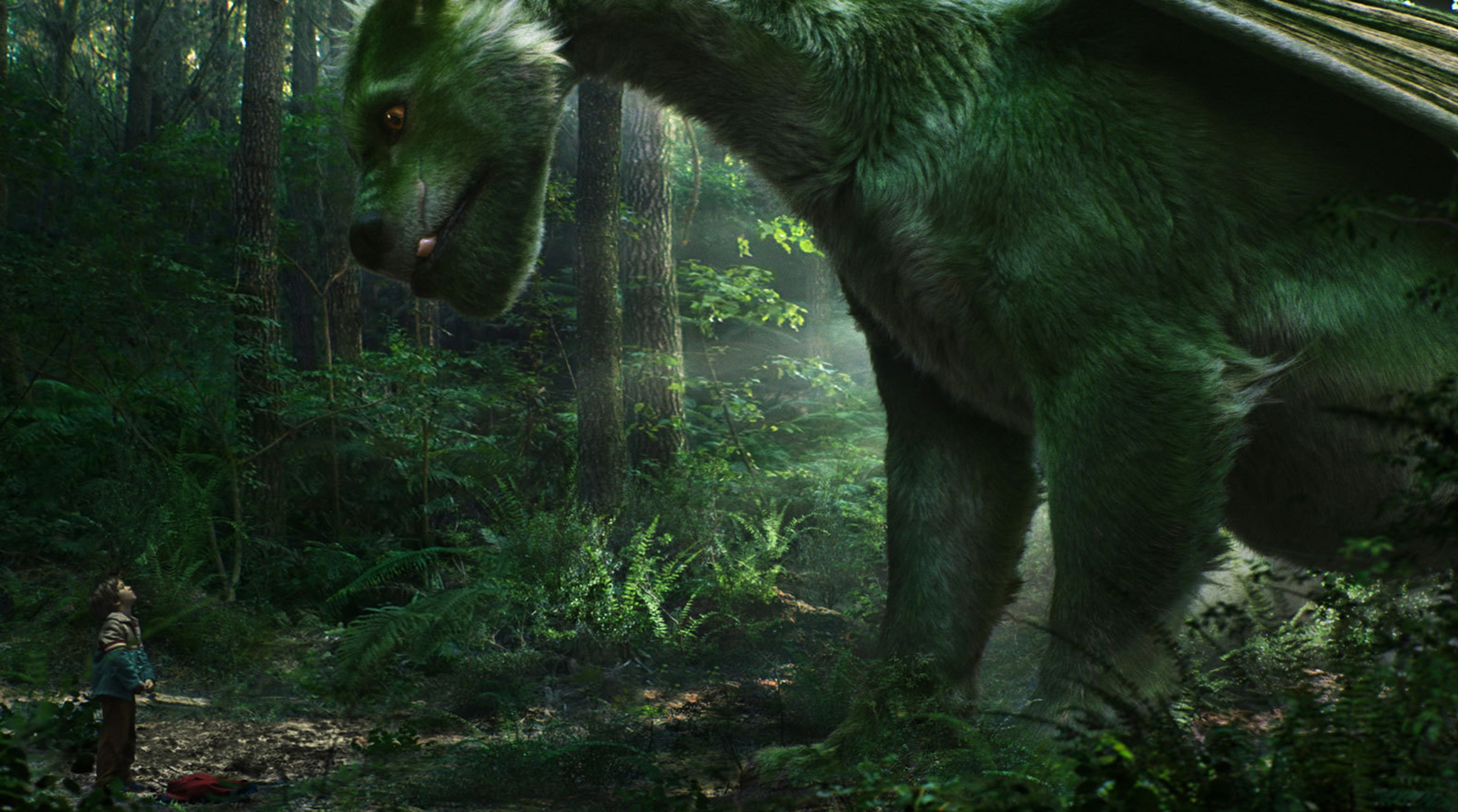 """Forest orphan Pete (Oakes Fegley) finds a friend in a dragon he calls Elliott in the entertaining, family friendly movie """"Pete's Dragon."""""""