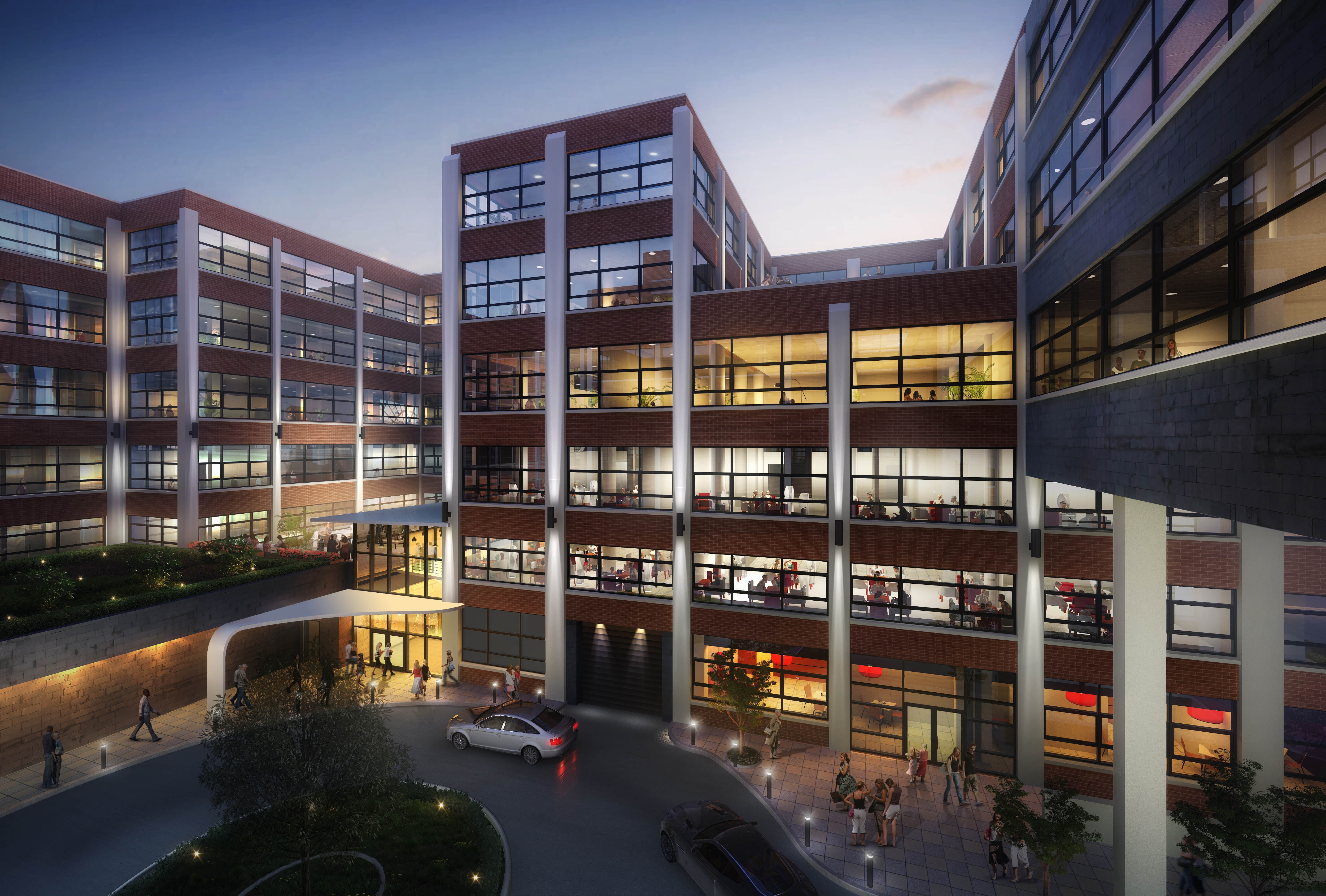 Rendering shows $90.5 million conversion of Trico building into a 114-room extended stay hotel, 150 apartments, commercial and retail space and a new Buffalo Culinary School.