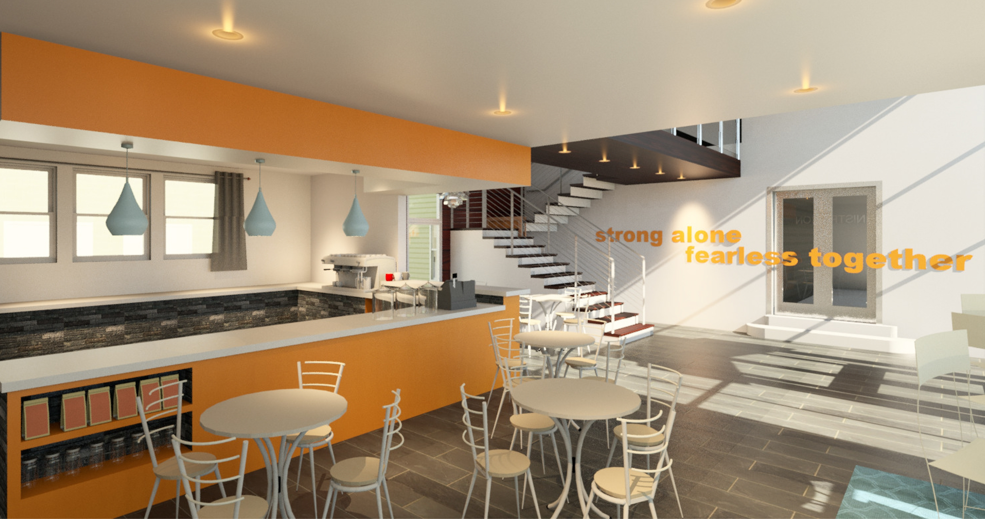 A rendering shows how the lobby and cafe of the YWCA's building after the  proposed $3 million to $4 million renovation.