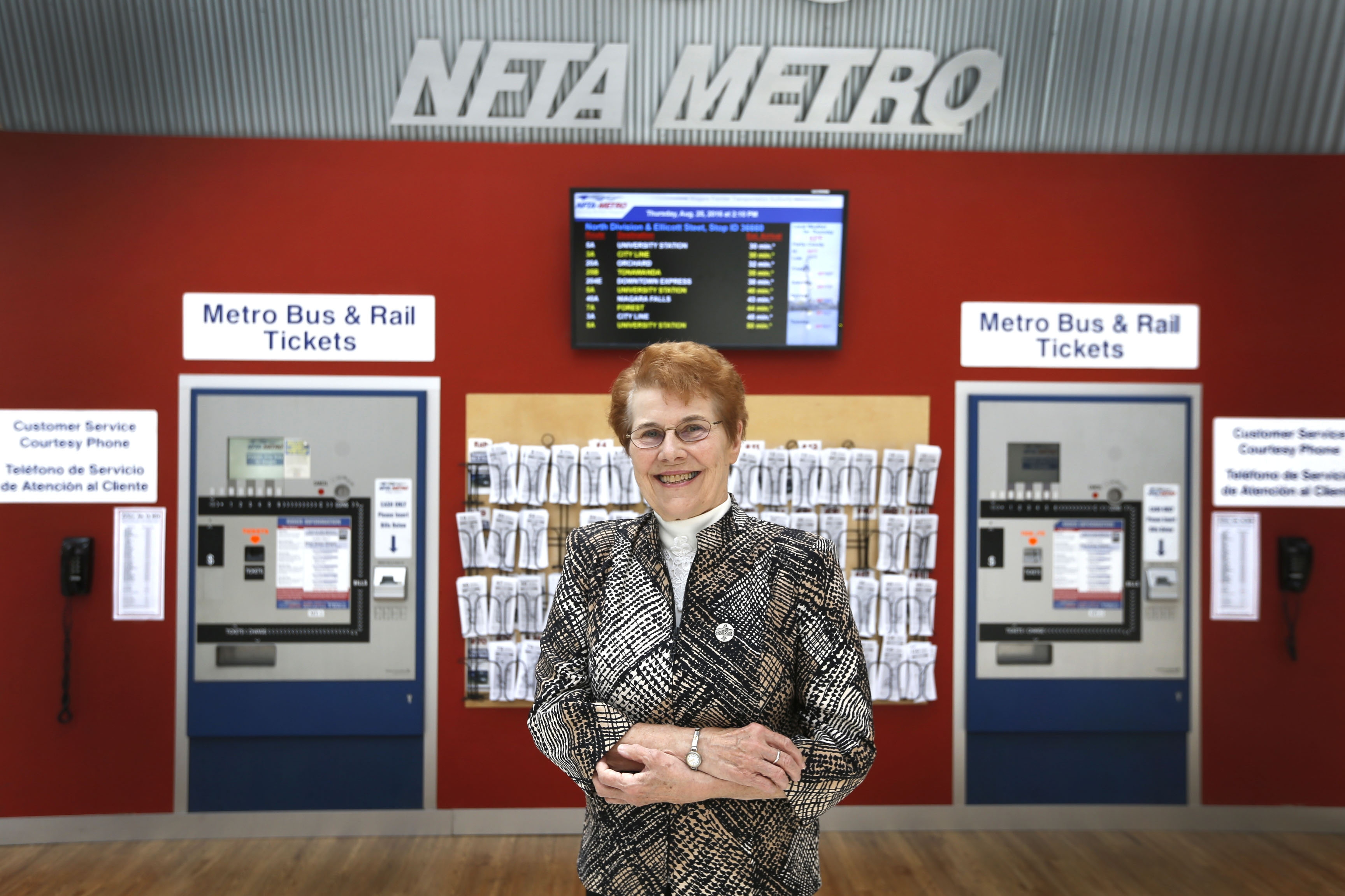 """Sister Denise Roche, new NFTA chairwoman, acknowledges that she is """"not a politician,"""" but has experience advocating in Albany."""