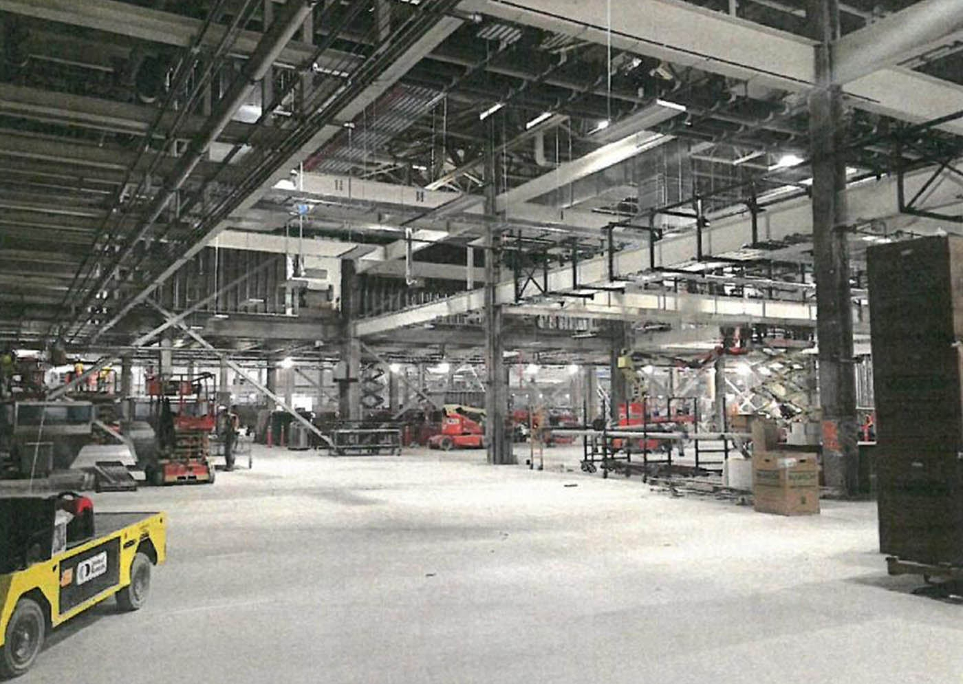 """The first glimpse inside the massive SolarCity facility at Buffalo's RiverBend comes courtesy of Empire State Development Corp.'s update on the project, which states the structure is scheduled for """"substantial completion"""" by Sept. 15."""