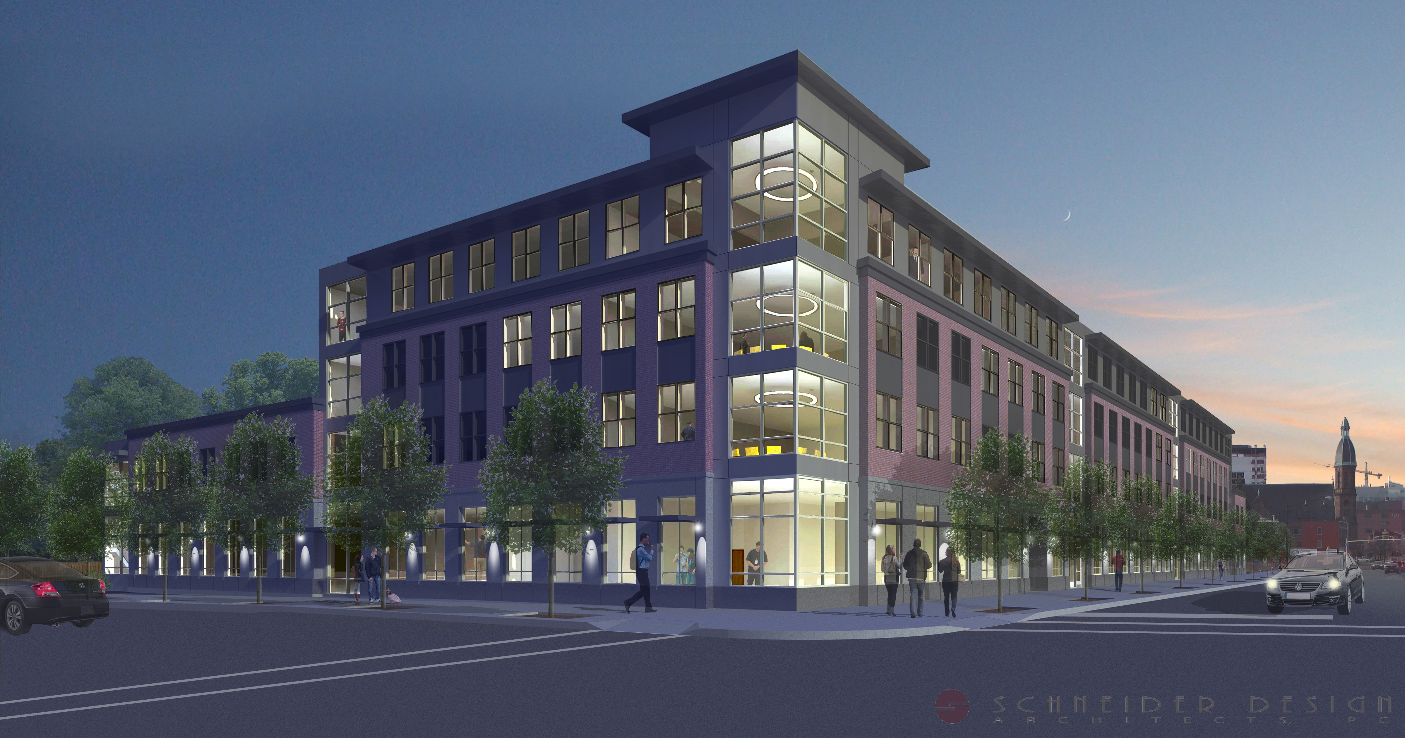 A rendering of a proposed medical office building that Dr. Fadi Dagher's Cedarland Development Group wants to construct at 1159 Main, at the corner of Best Street, where the Buffalo Motor Lodge used to be located.