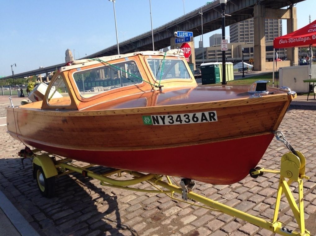 Old Boats Buffalo will have antique boats in display at Canalside this weekend. (T.J. Pignataro/Buffalo News)