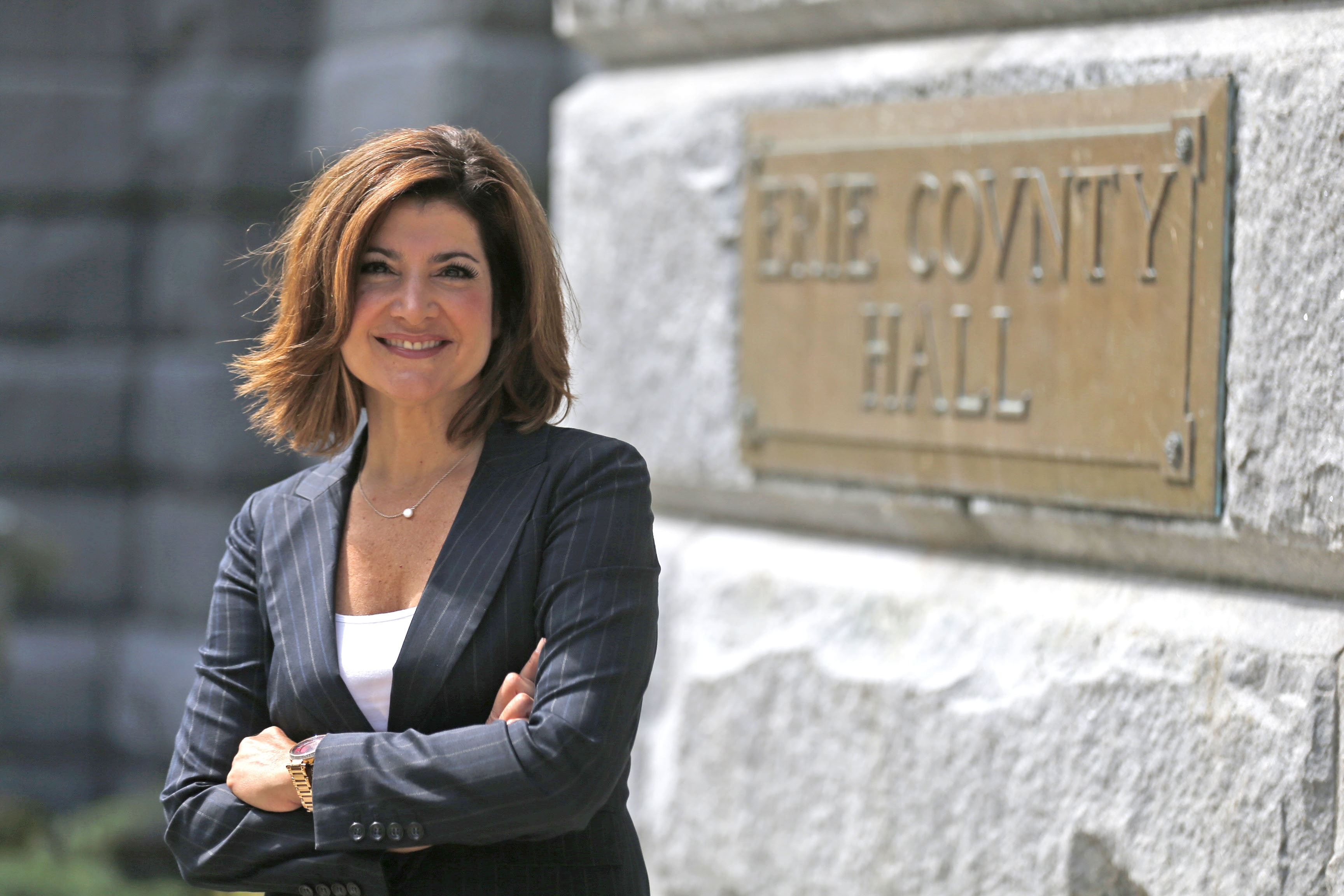 Former Channel 7 news anchor Joanna Pasceri now the public information officer for Erie County District Attorney Michael Flaherty. After 22 years in the WKBW-TV newsroom, she is adjusting nicely to the change of pace.