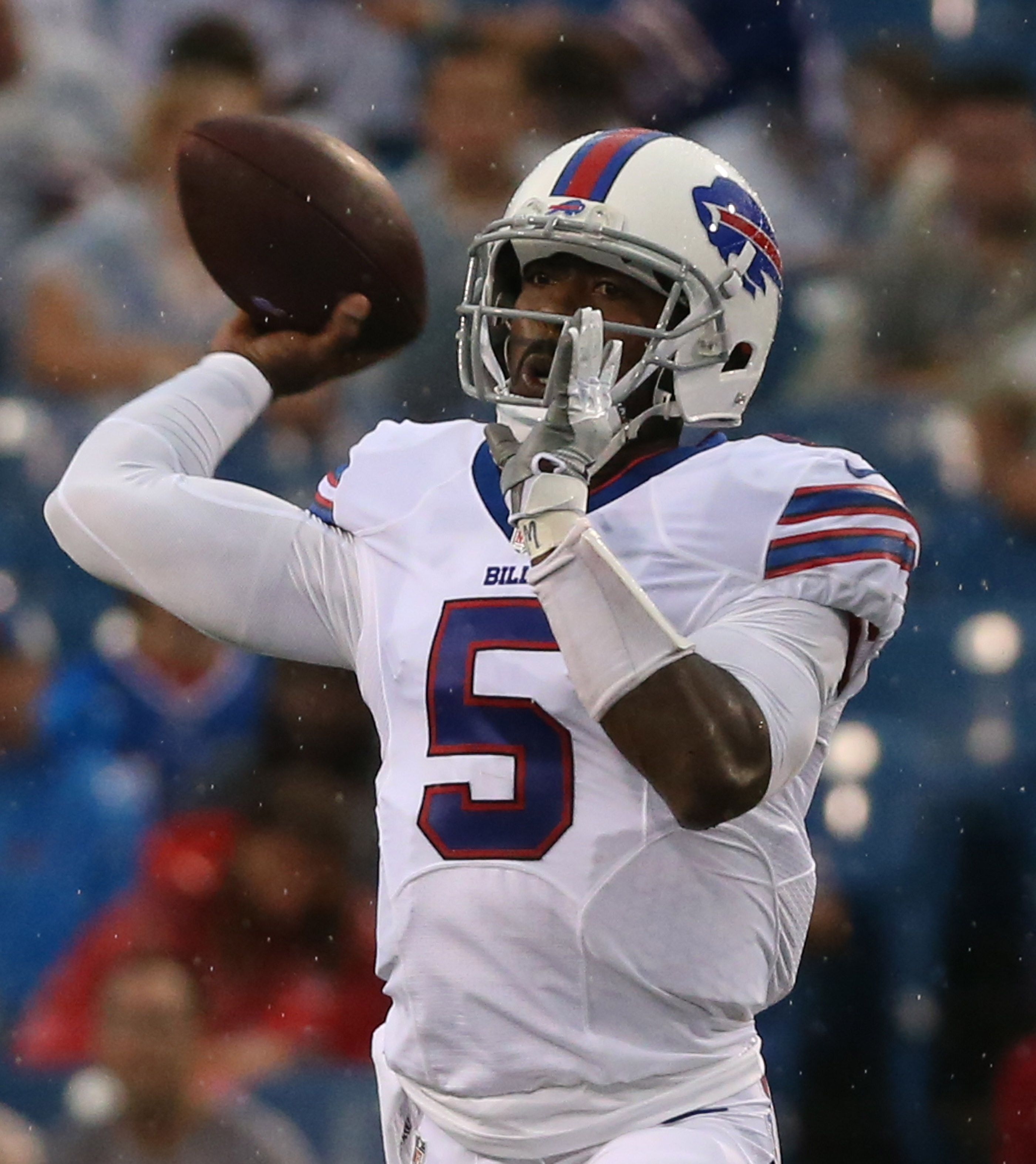 Tyrod Taylor is one of three African-American quarterbacks on the Bills' roster this season.