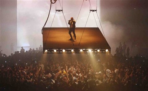 Kanye West in concert at First Niagara Center