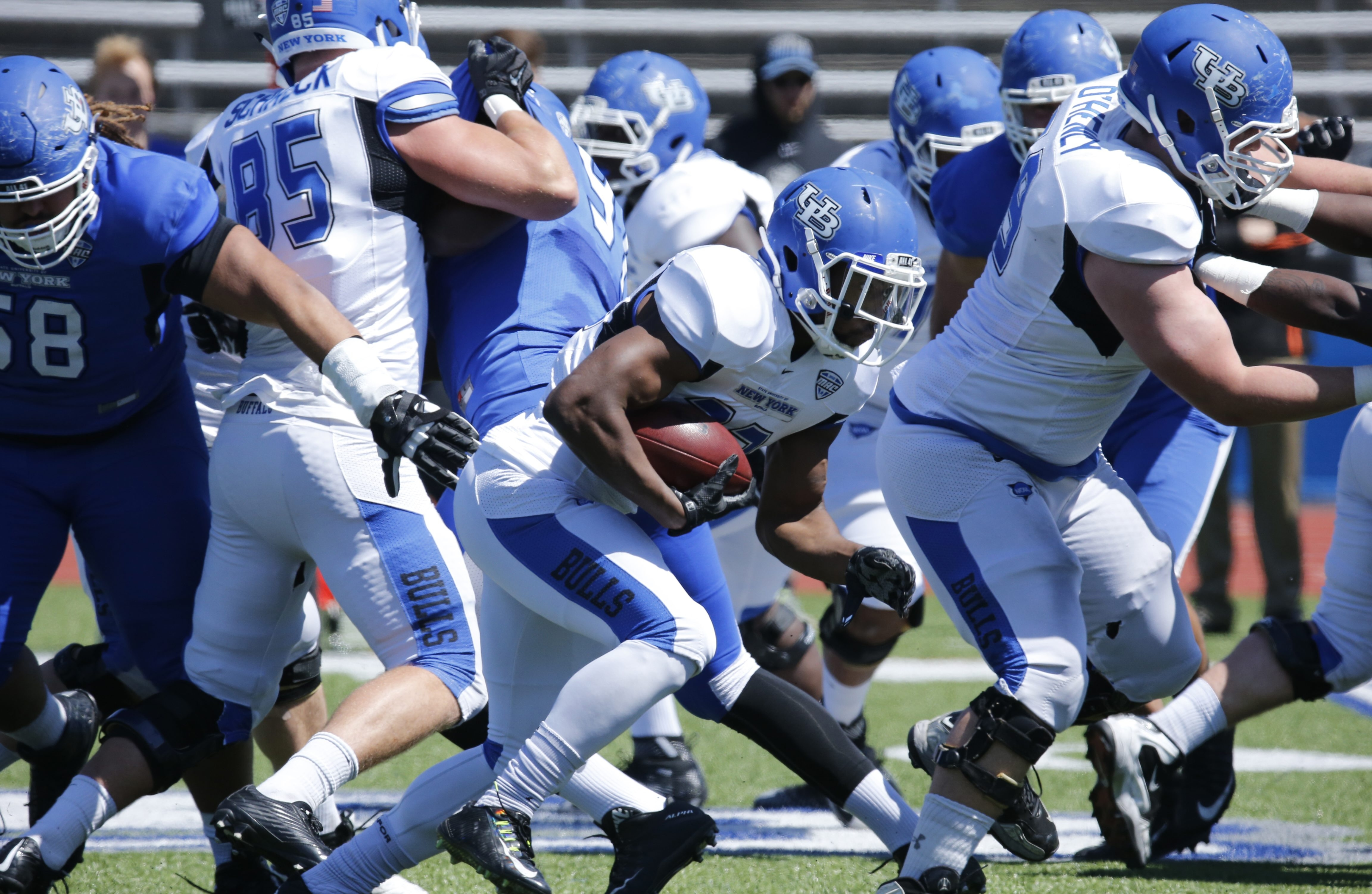 The University at Buffalo spends $7.3 million a year on football, and a total of $29.5 million on all sports.