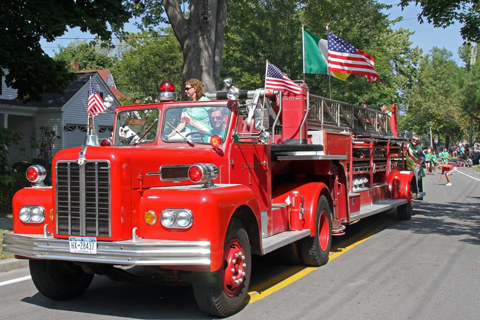 A fire truck rolls by during the 2015 Youngstown Labor Day parade. Last year the Porter, Youngstown, Ransomville Business Association got involved.