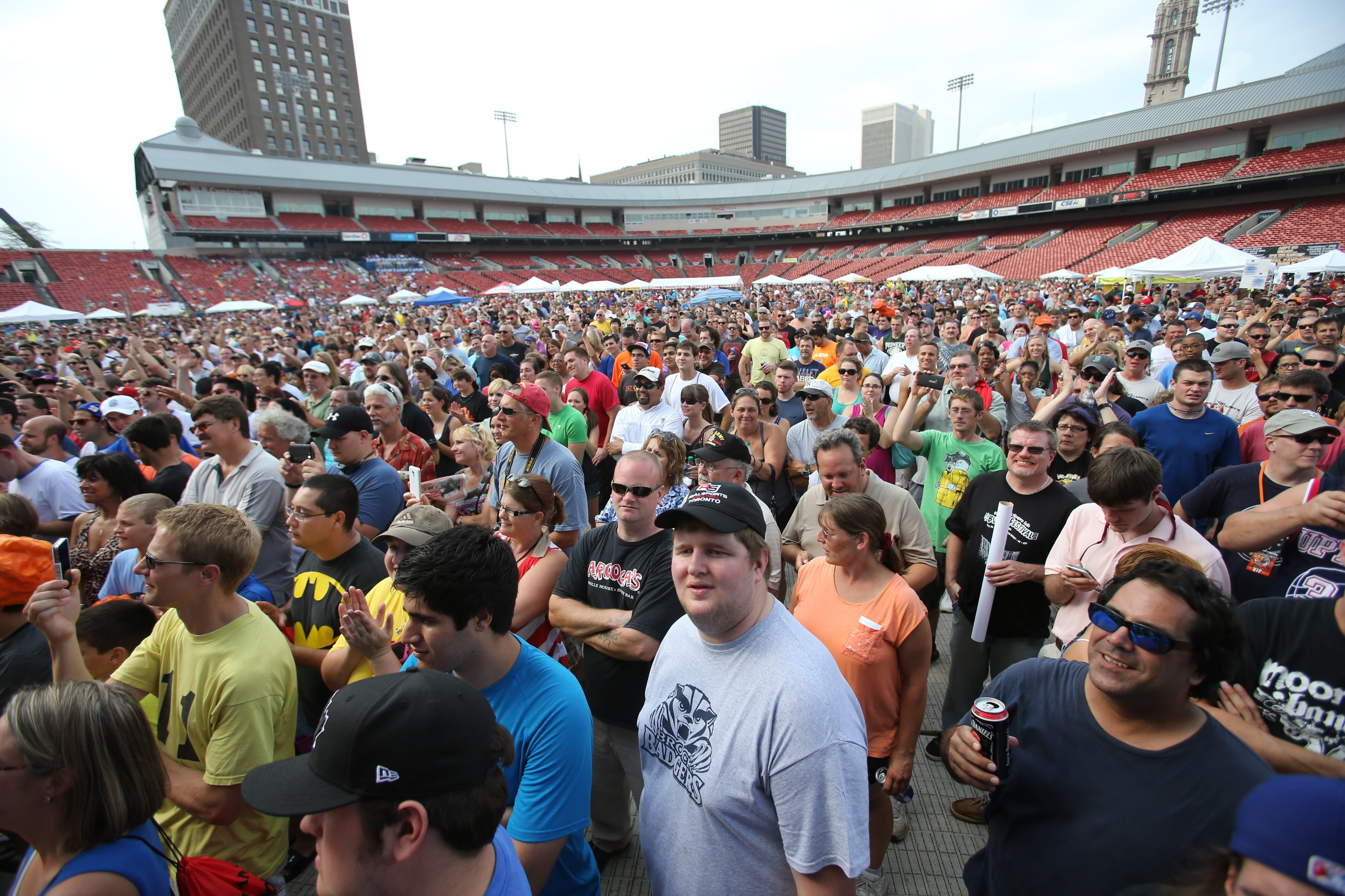 Wing lovers flock to Coca-Cola Field every year for the National Buffalo Wing Festival.