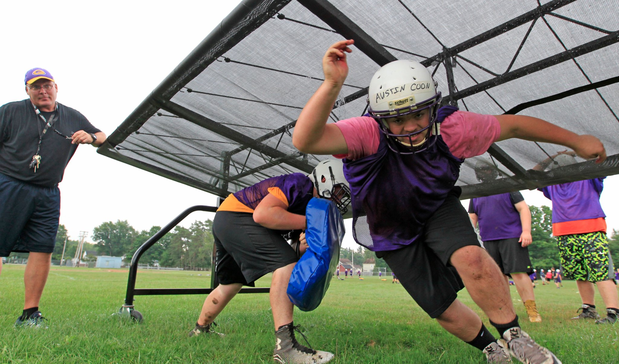 Springville gets going on Day One. (Harry Scull Jr./Buffalo News)