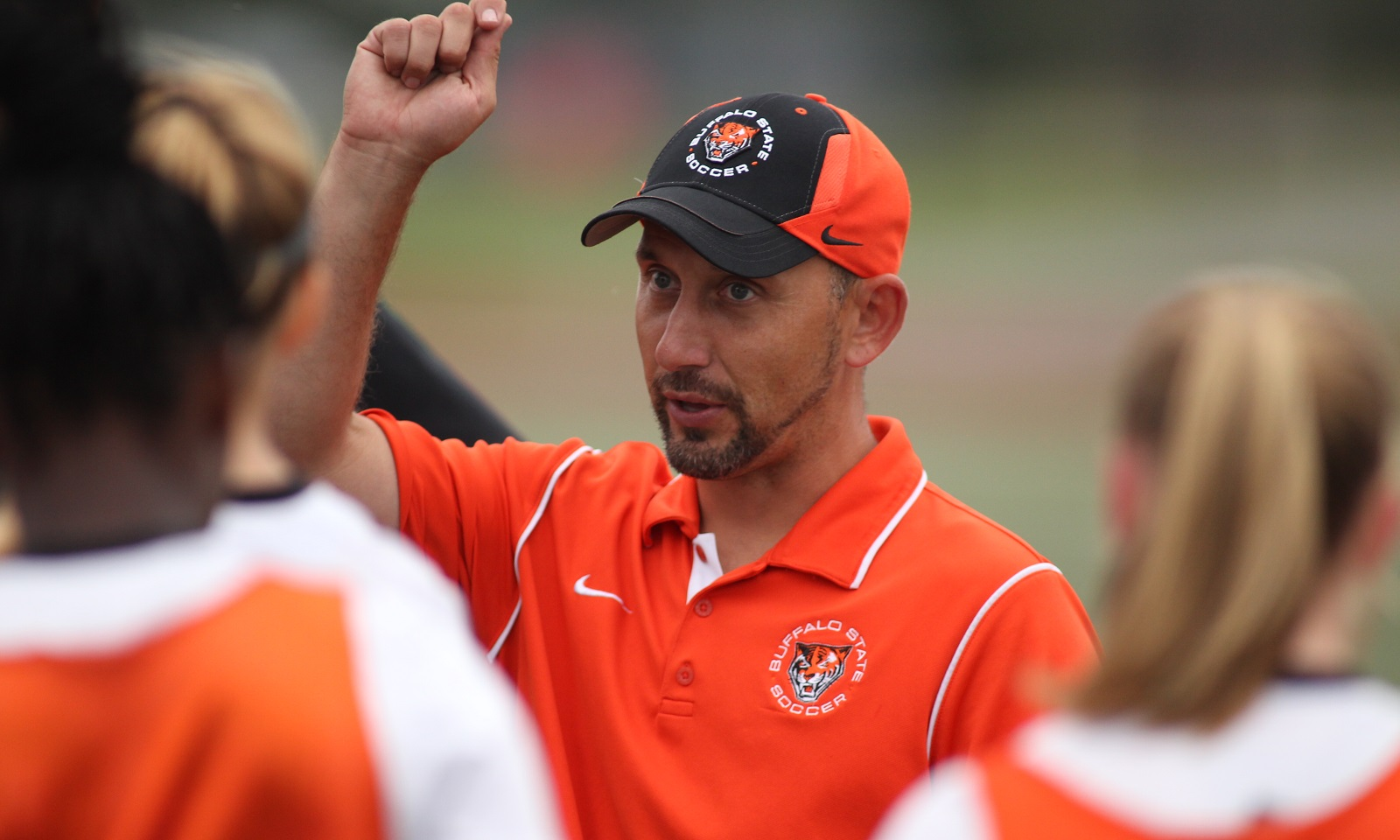 Buffalo State women's soccer head coach Nick DeMarsh is in his 15th season with the program. (Buffalo State Athletics)