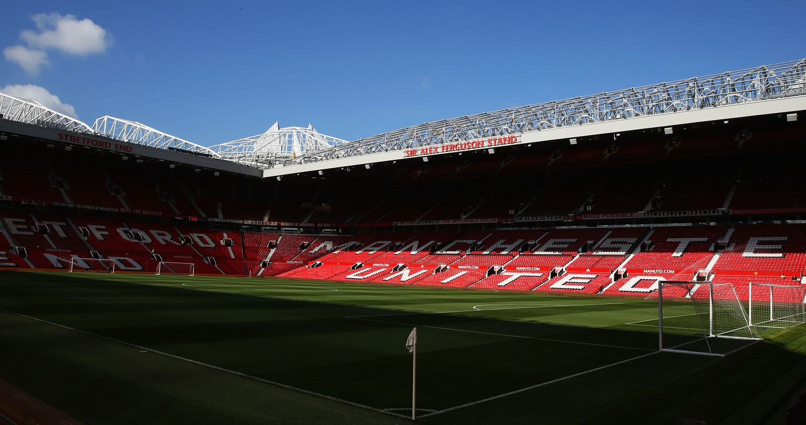 Iconic Old Trafford, the home of Manchester United, is on the Buffalo State women's soccer team's agenda. (Photo by Ian Walton/Getty Images)
