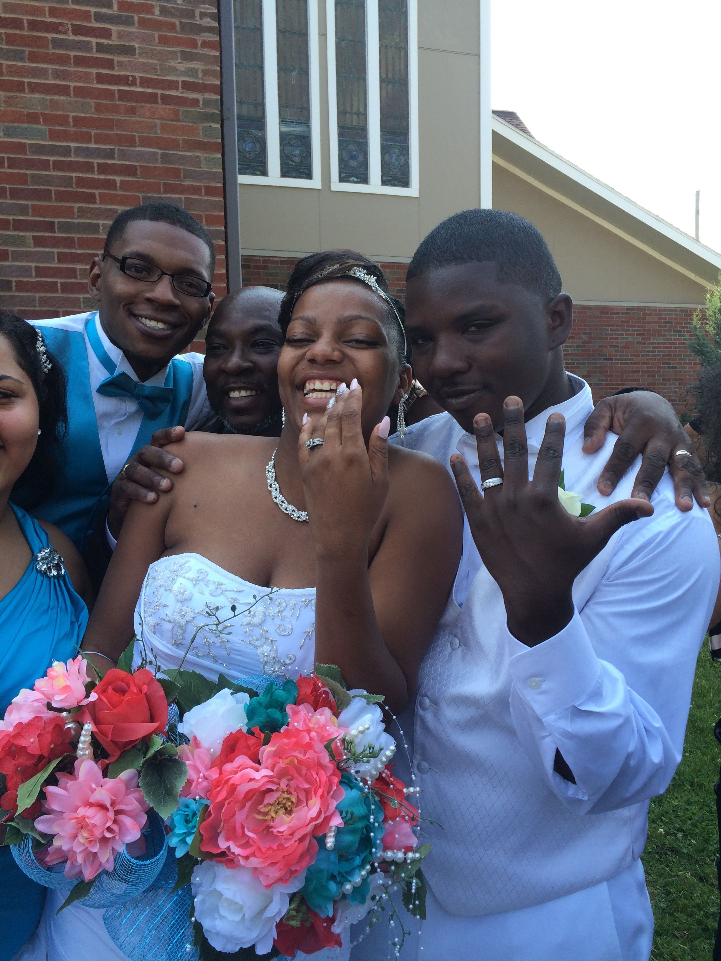 My-Kellia and Queshawn Jenkins, on their wedding day, June 11, Syracuse. (Sean Kirst/Submitted image)