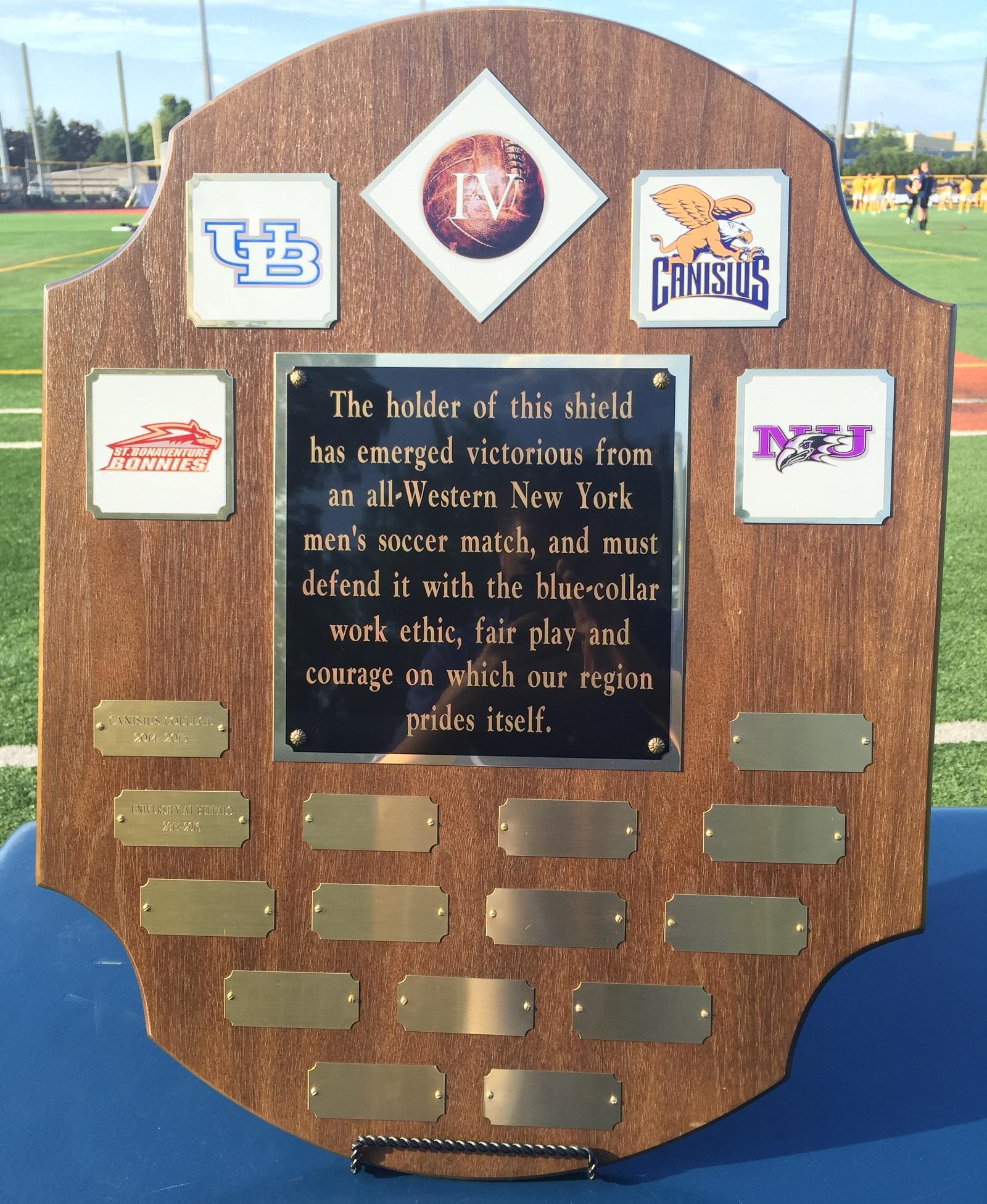 A closer look at the Big 4 Shield. (Ben Tsujimoto/Buffalo News)