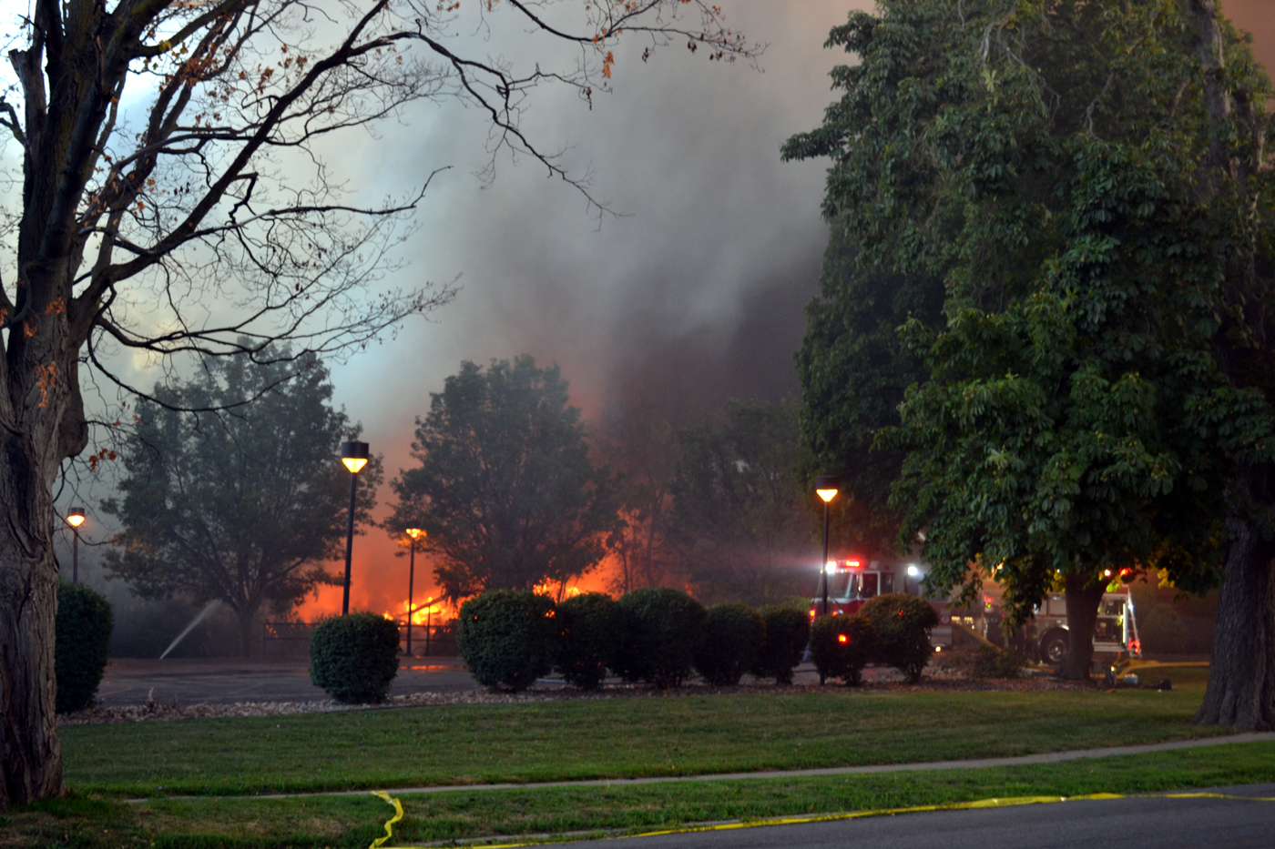 The scene of the fire on Stevens Street in Lockport. (Larry Kensinger/Special to The News)