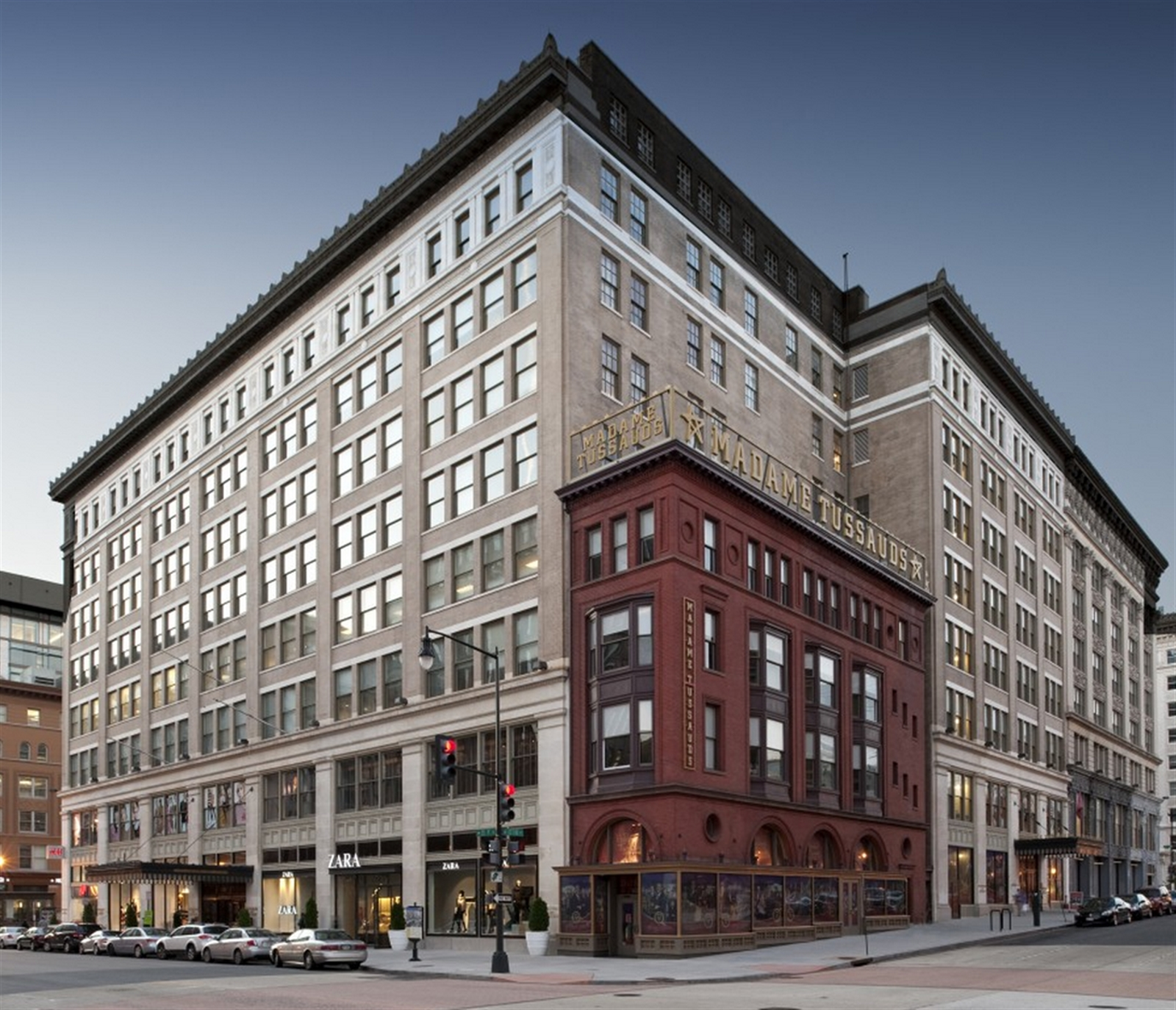 The Woodward & Lothrop building is located in Penn Quarter in Washington, D.C. There is about half a million square feet that encompasses an entire city block. The retail tenants include: Madame Tussauds, Zara, H&M and Forever 21. (Photo by Douglas Development)