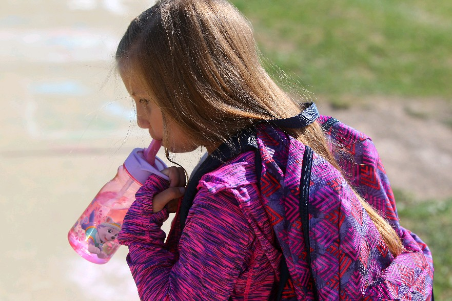 Jessica Cwierley wanted a 'Frozen' backpack but her mother, Dawn, chose to look for something on the more practical side. (Photos by Mark Mulville/Buffalo News)
