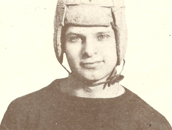 "James F. Dyson, from the 1927 Dennison High School yearbook, in Ohio: ""A man who put a lot of fighting spirit into the squad."" (Photo courtesy of R.K. Lindsey Funeral Home, Dennison, Ohio)"