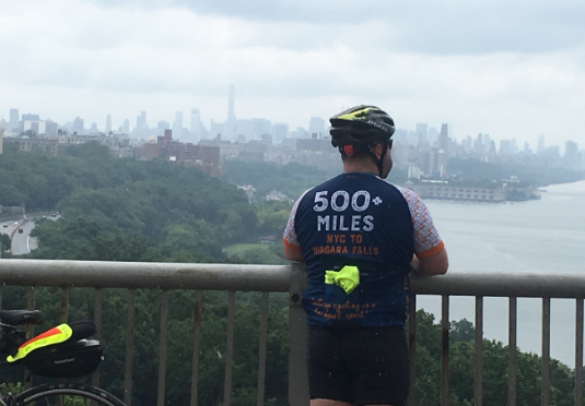 Buffalo restaurant manager Carlos M. Torres is riding in memory of a friend.
