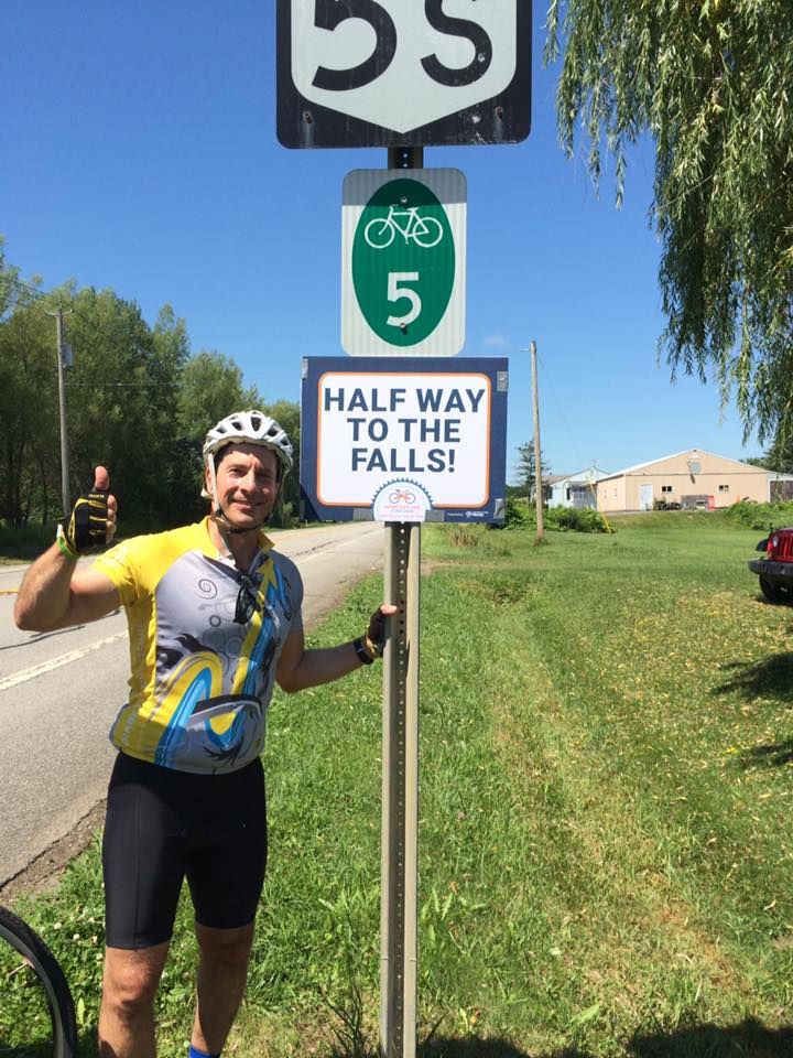 Steve Mars and other Empire State riders have passed the halfway point on the way to Niagara Falls this weekend.