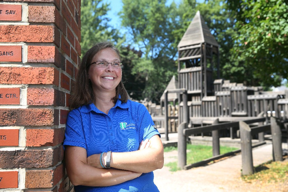Wood chips and poured-in-place rubber will replace pea gravel as the Hamburg Community Playground surfacing, Lynn Mason said, and even though there will be no wood in the equipment, she suspects many will still call the new spot 'The Wooden Playground.'