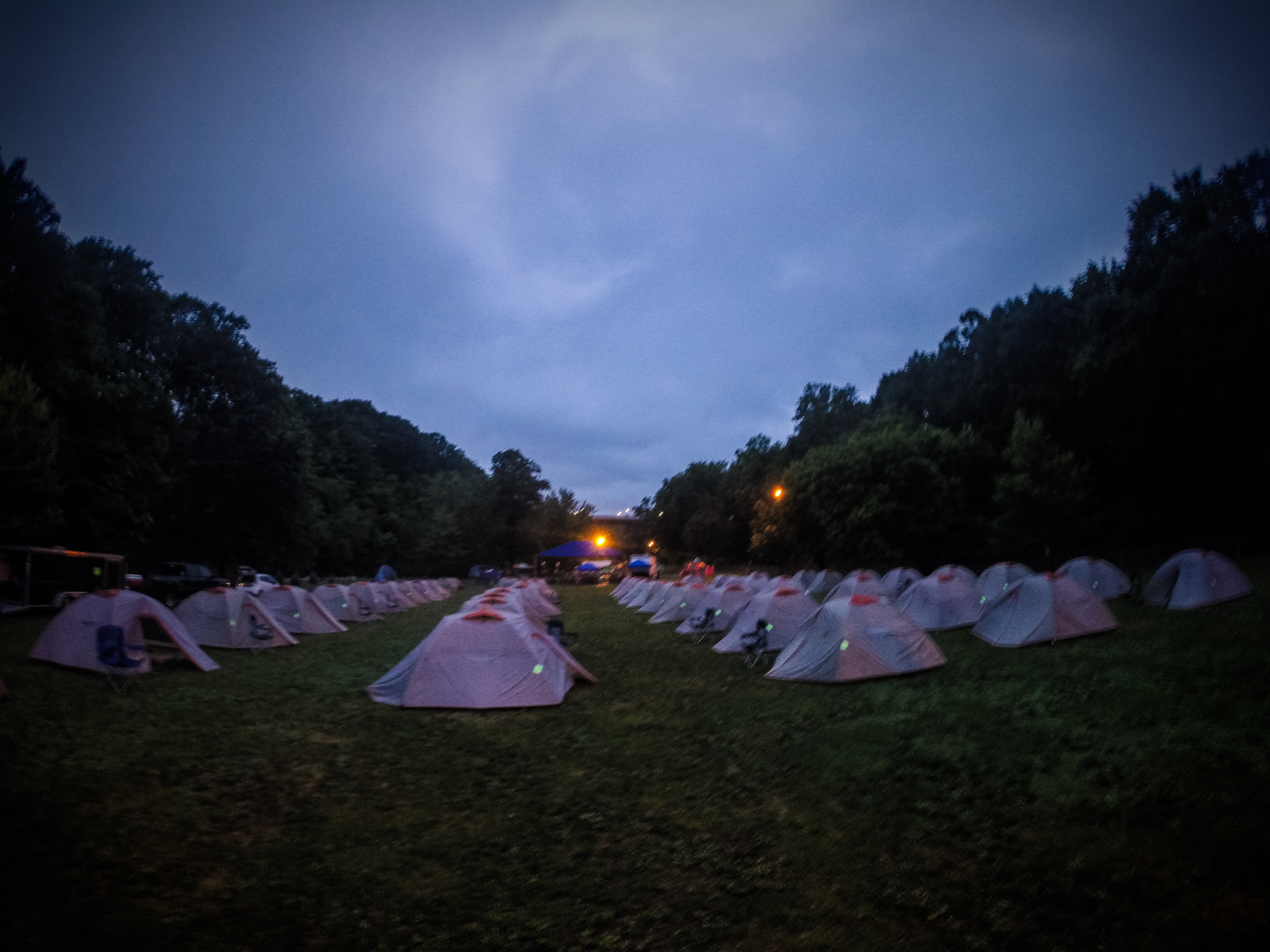 Empire State Riders stayed in tents as they traveled cross state from July 30 to Aug. 6.