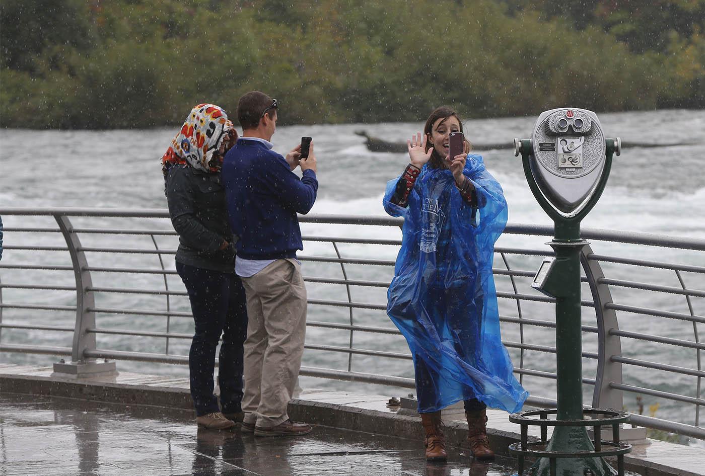 Tourists enjoy Niagara Falls.  (Mark Mulville/Buffalo News)