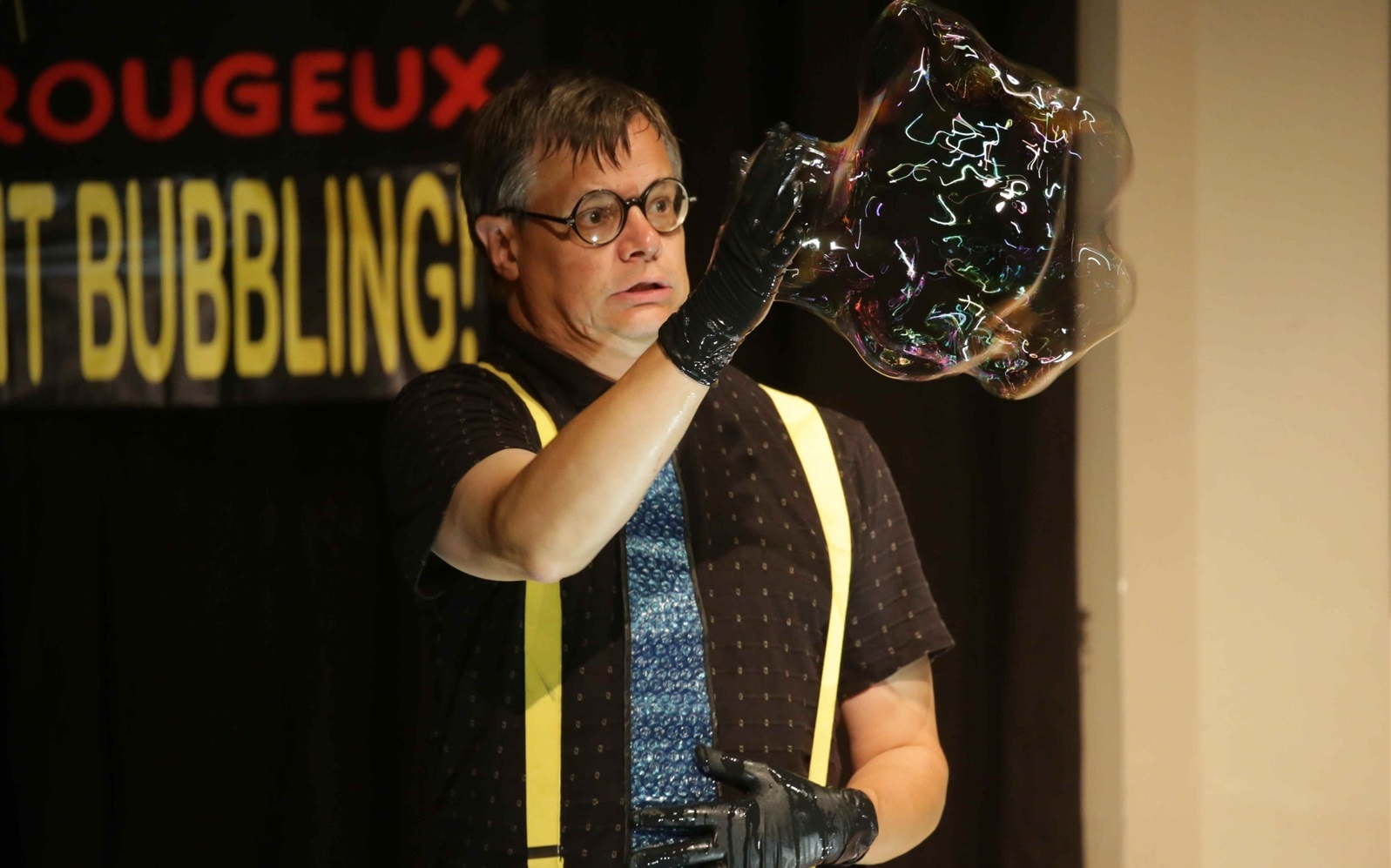 Doug Rougeux can do crazy things with a bubble. (John Hickey/Buffalo News file photo)