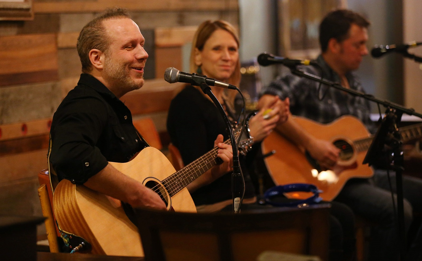 Rob Falgiano, left, performs with the duo Meet the Bacons at Daily Planet. (Sharon Cantillon/Buffalo News)