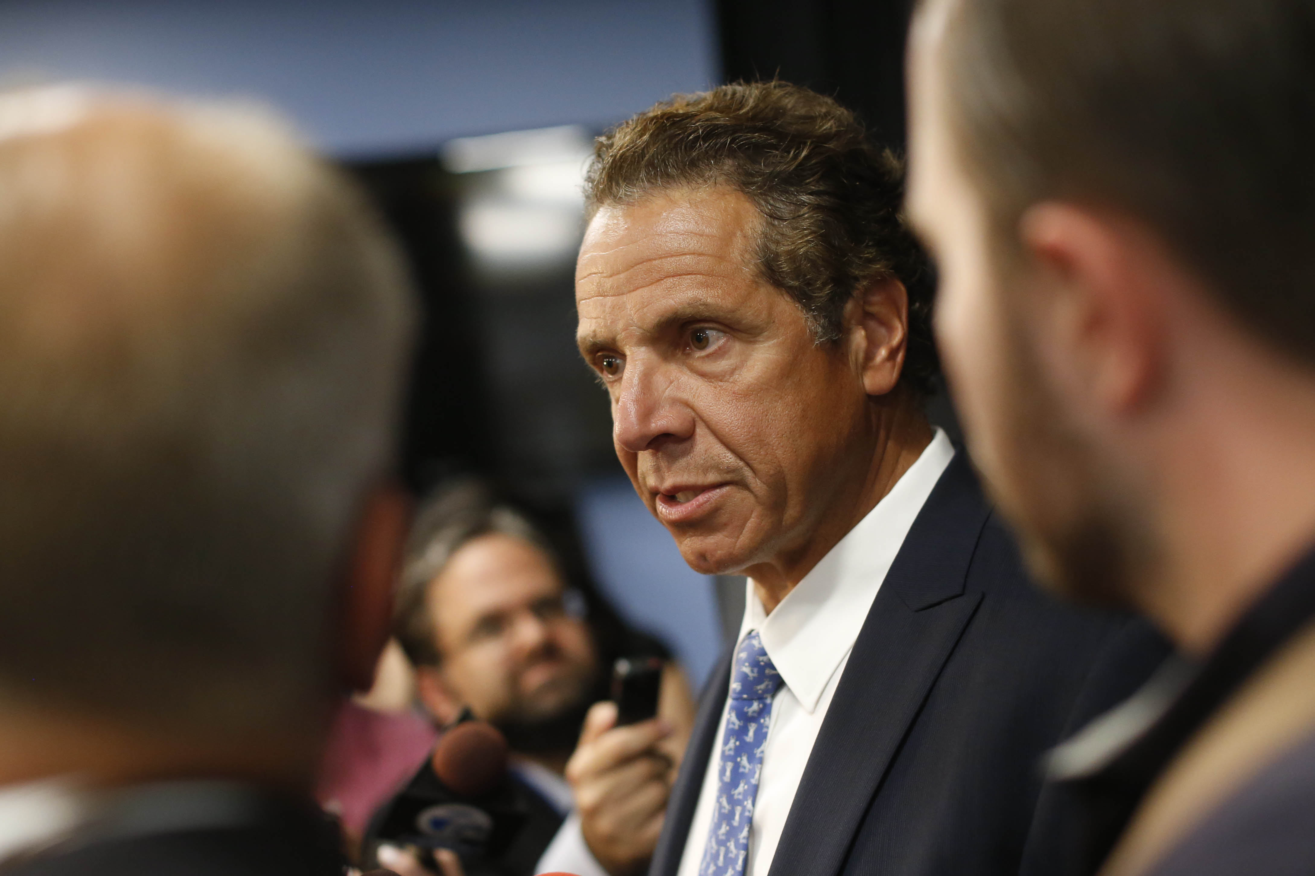 Gov. Andrew M. Cuomo will face questions about the corruption charges for the first time today in Buffalo. (Derek Gee/Buffalo News)