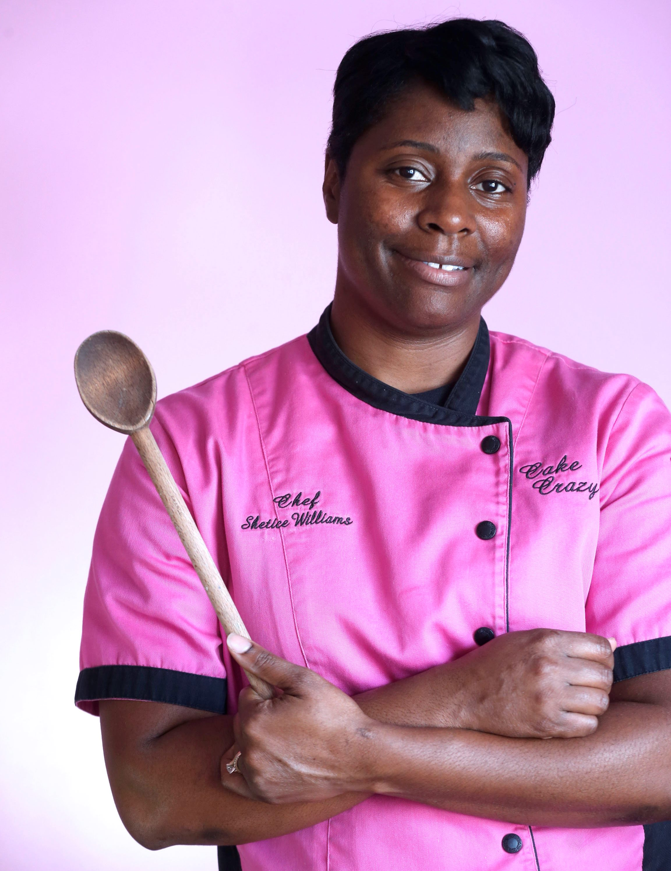 Shetice Williams, a graduate of the Culinary Institute of America and owner of Cake Crazy Bakery and Gourmet Catering on William Street in Cheektowaga. (Robert Kirkham/Buffalo News)