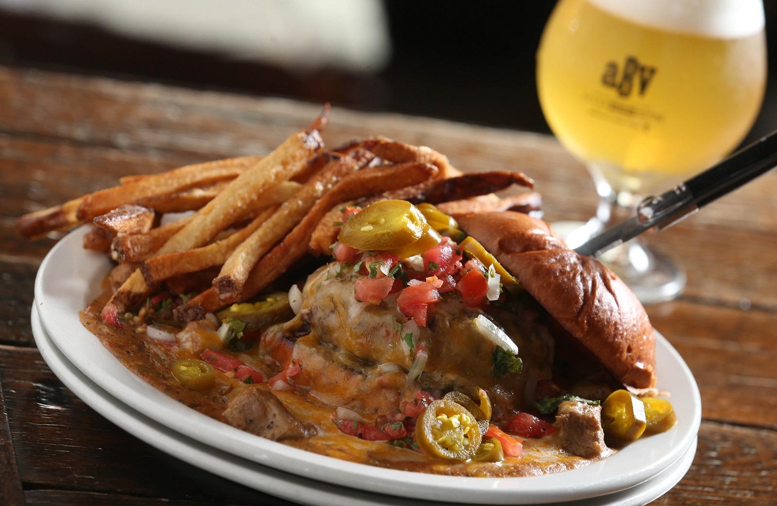 Colorado pork green chile burger from Allen Burger Venture. (Sharon Cantillon/Buffalo News)
