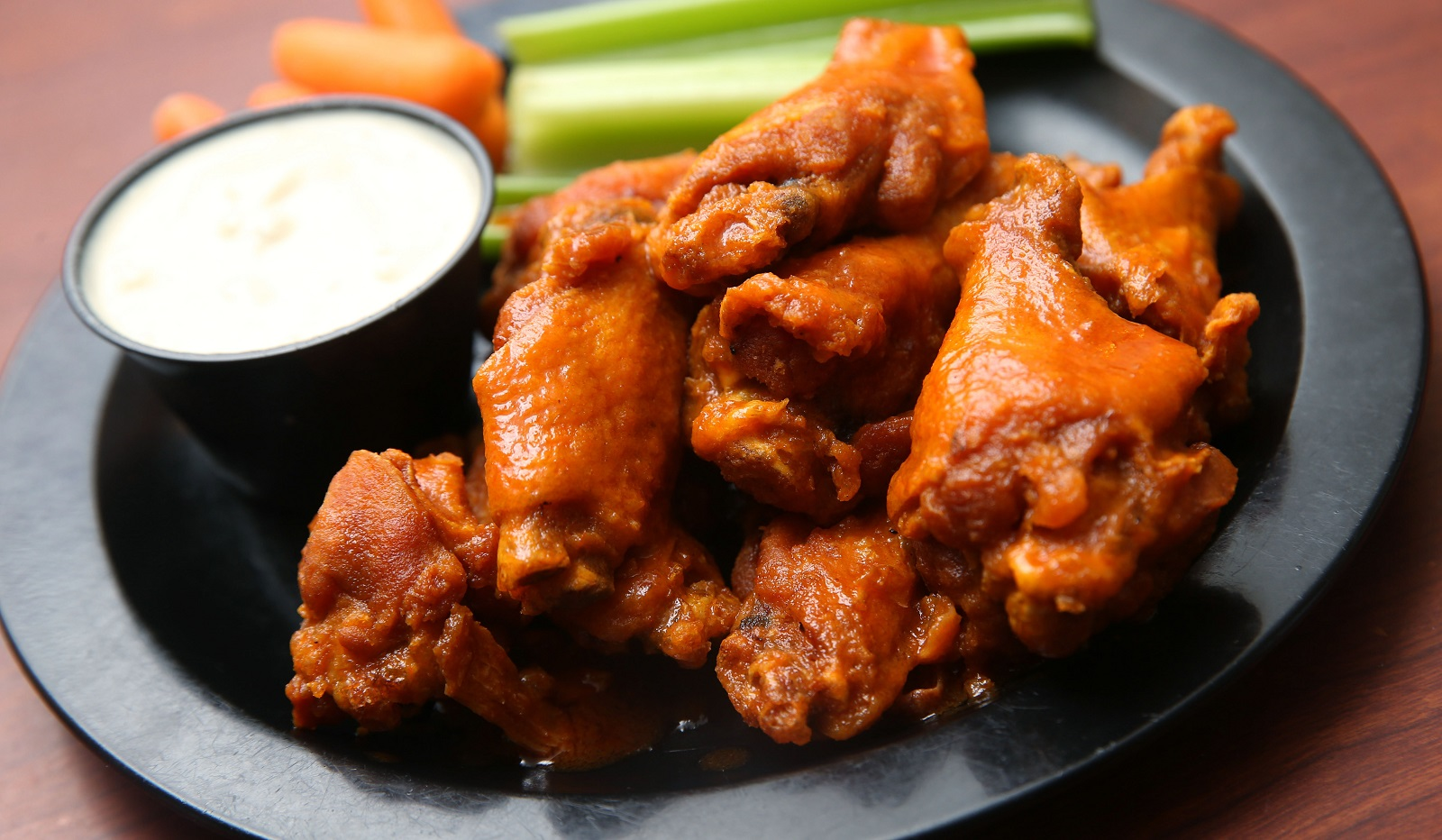 An order of wings from Duff's is a sight to behold. (Sharon Cantillon/Buffalo News)