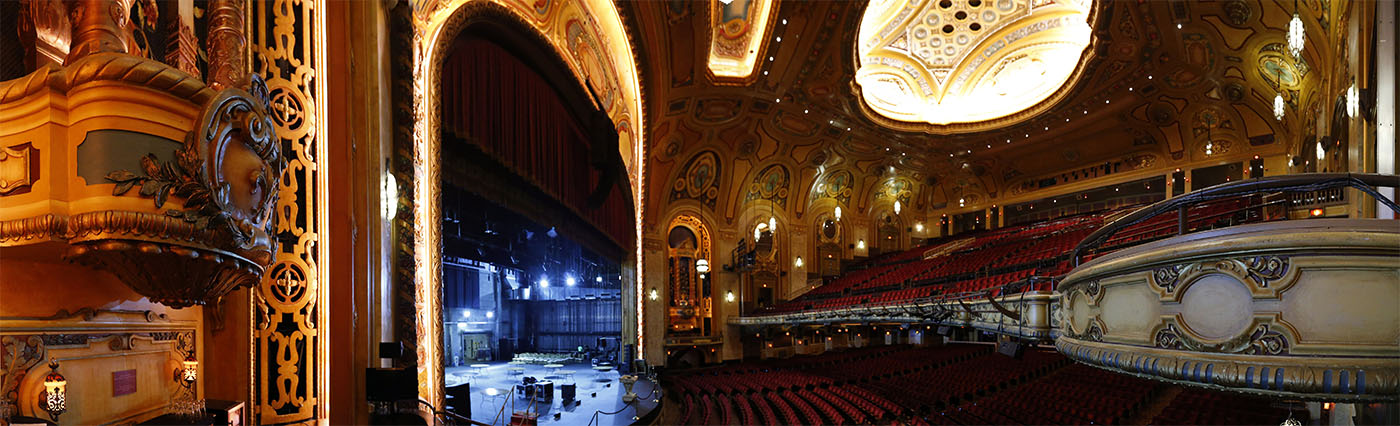 Best Seat in the House – The Shea's Buffalo Theatre taken from the private balcony on the side of the stage.    (Mark Mulville/Buffalo News)