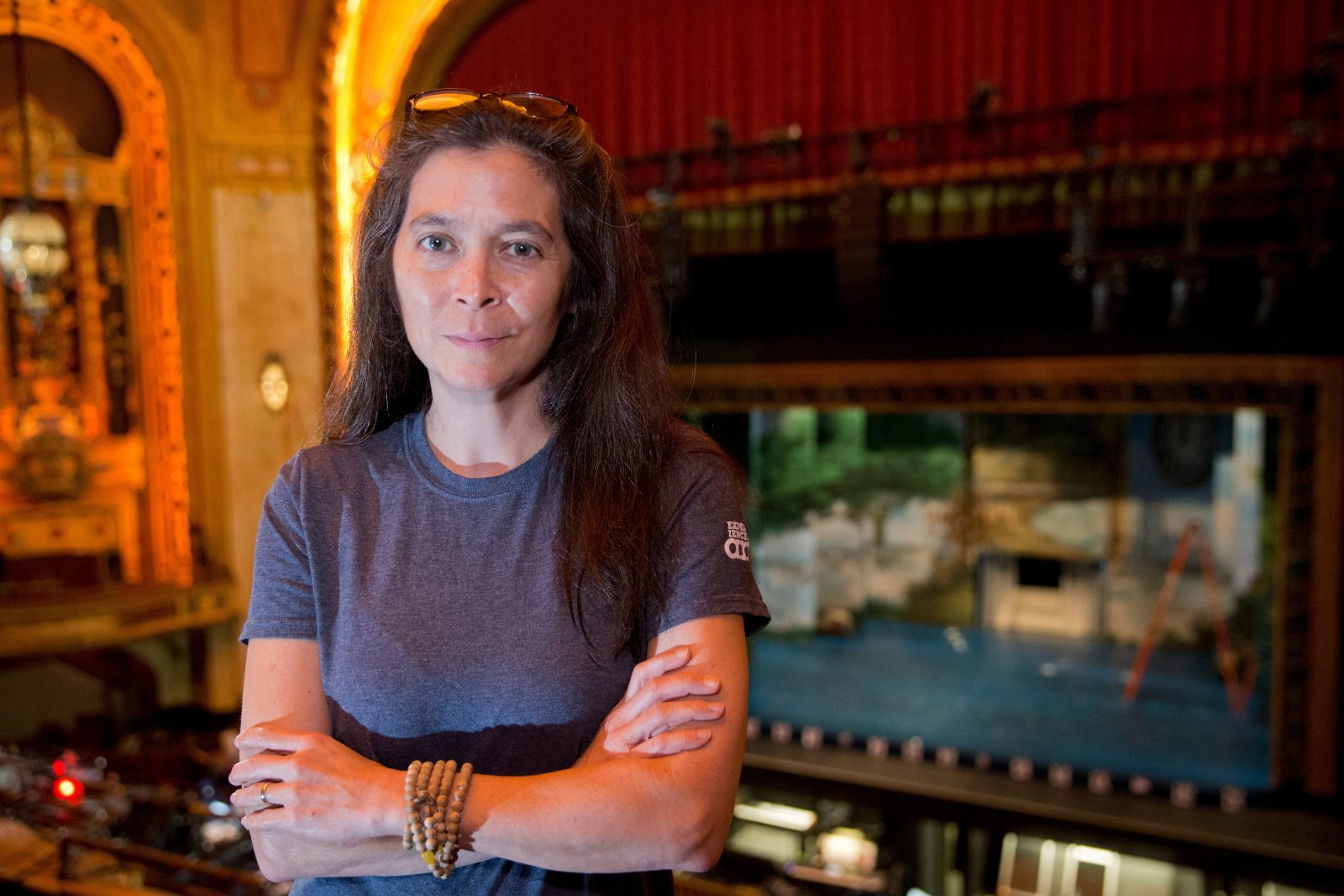 'Finding Neverland' director Diane Paulus at work in Shea's Performing Arts Center  in Buffalo, N.Y. on Thursday Sept. 29, 2016.   (John Hickey/Buffalo News)