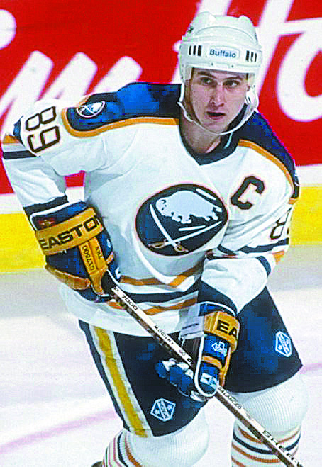 Alexander Mogilny will join the Greater Buffalo Sports Hall of Fame on Thursday. (Photo by Rick Stewart/Allsport)