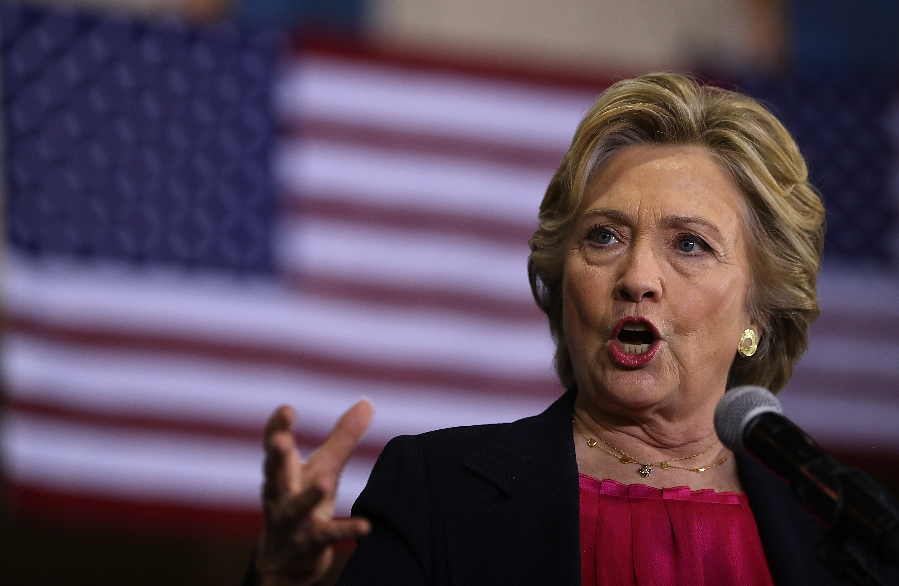 Unions which helped Hillary Clinton win her U.S. Senate race in New York in 2000 are now sending members to battleground states to get out the vote for her in this year's presidential contest. (Getty Images)