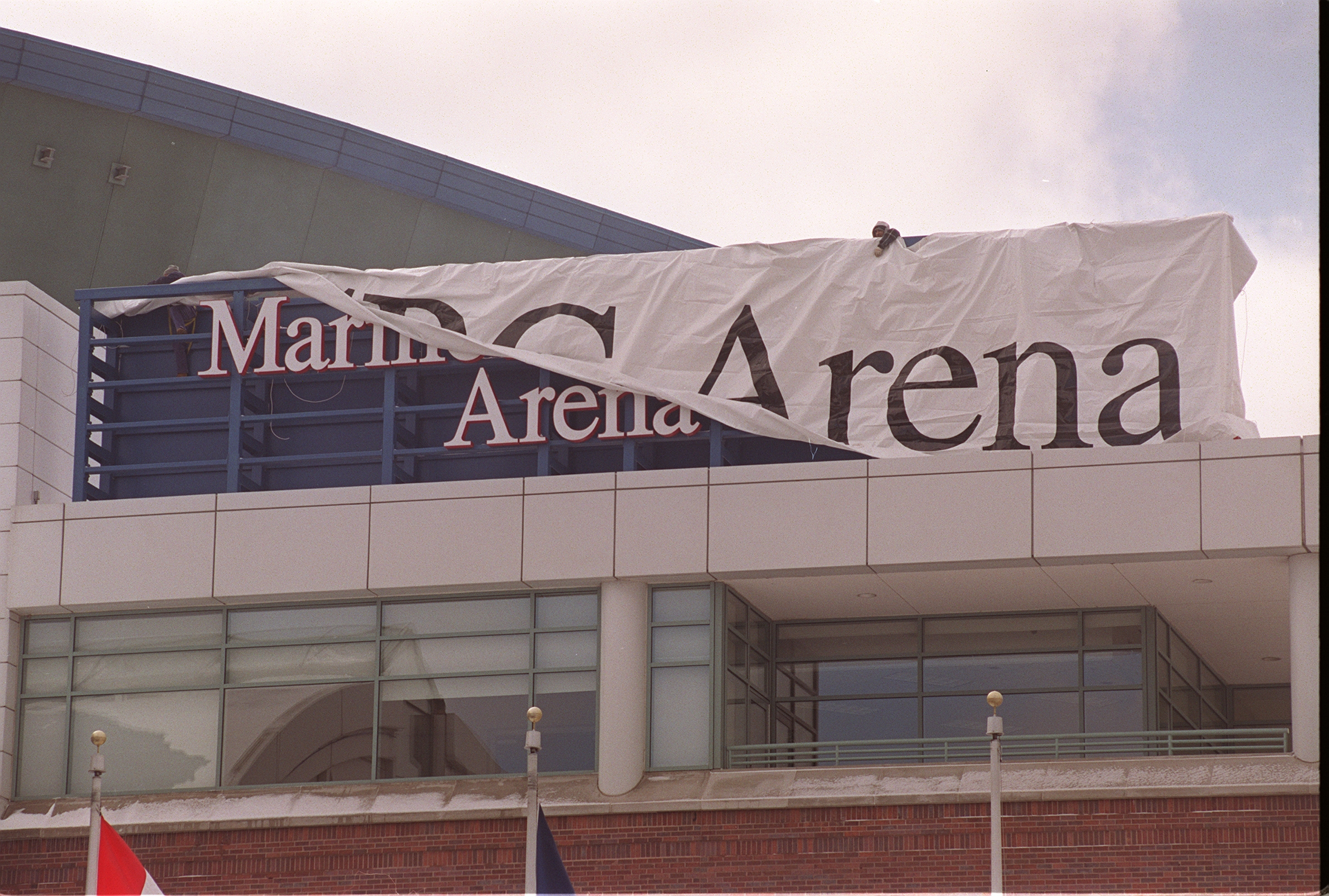 Marine Midland Arena got a new name in 2001. (John Hickey/Buffalo News)