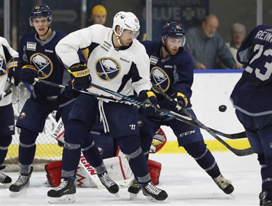 Buffalo Sabres scrimmage game at HarborCenter