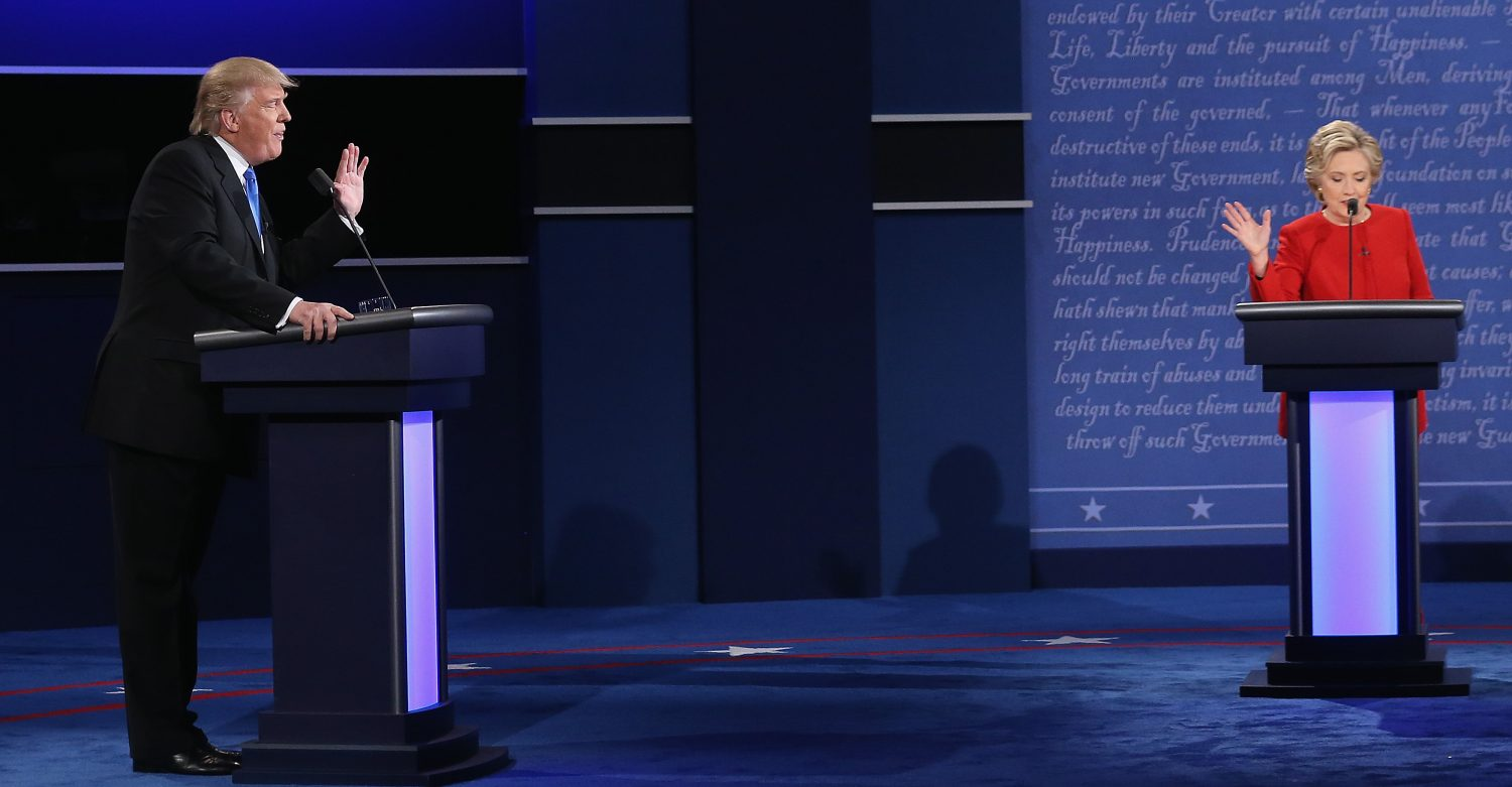 The 2016 presidential debates have shown us plenty of reasons to look for improvement. (Getty Images)