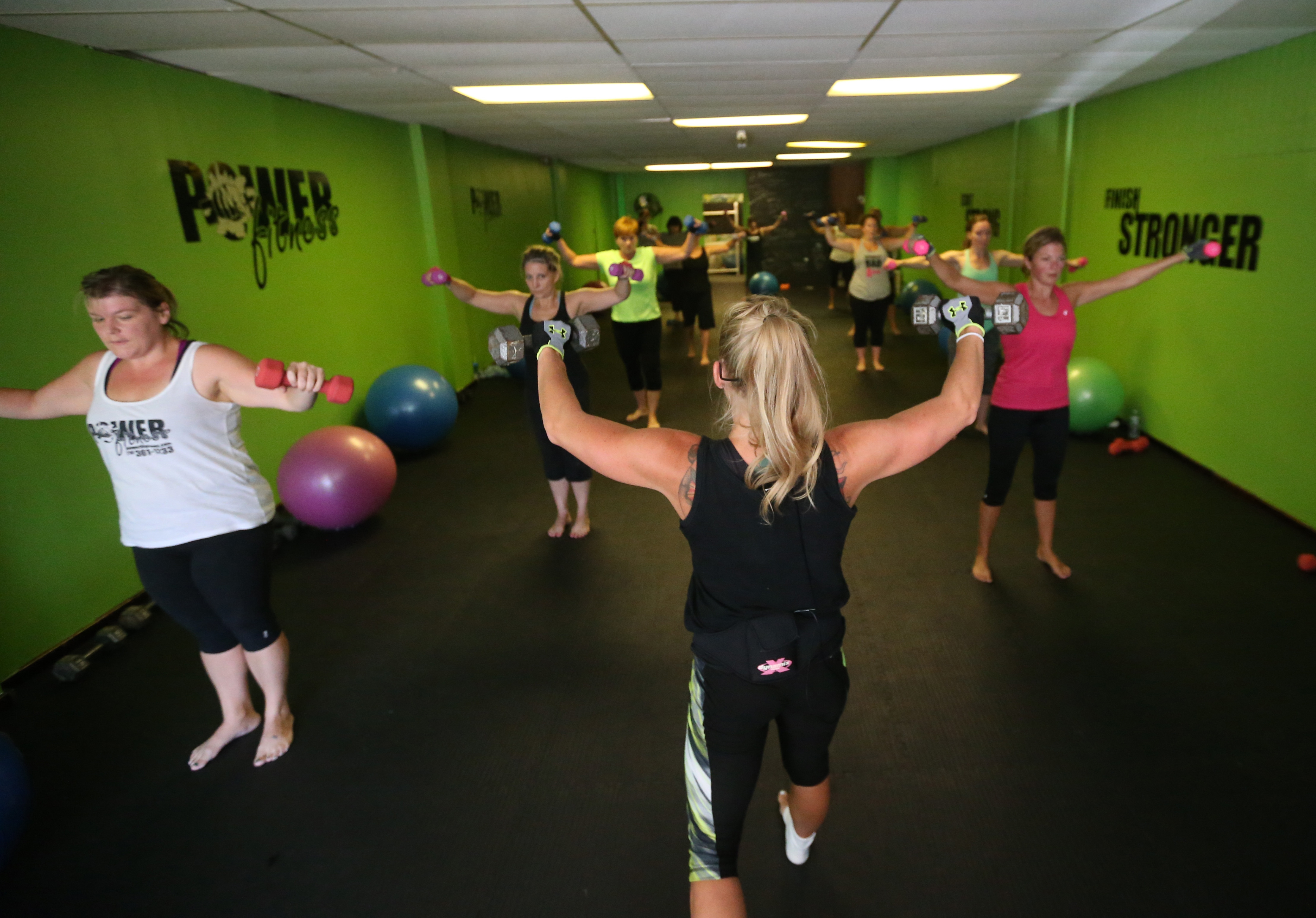 """Sarah Coburn, owner of Power Fitness Group Exercise Studio, says weight-loss is """"so much more mental than physical."""""""