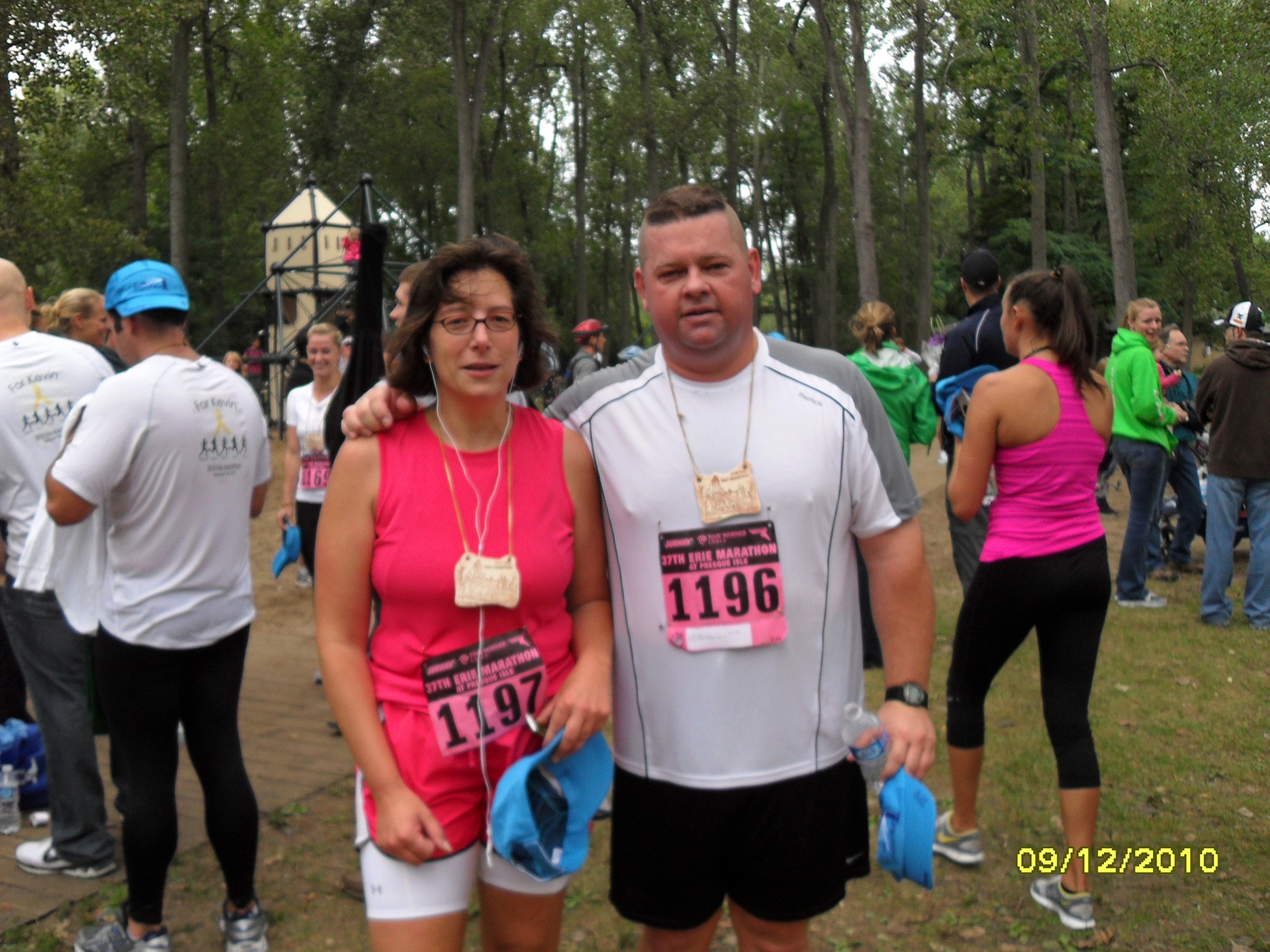 """""""My diet is exclusively about trying to lose weight,"""" said competitive eater Jim Reeves, shown with his wife Terri."""