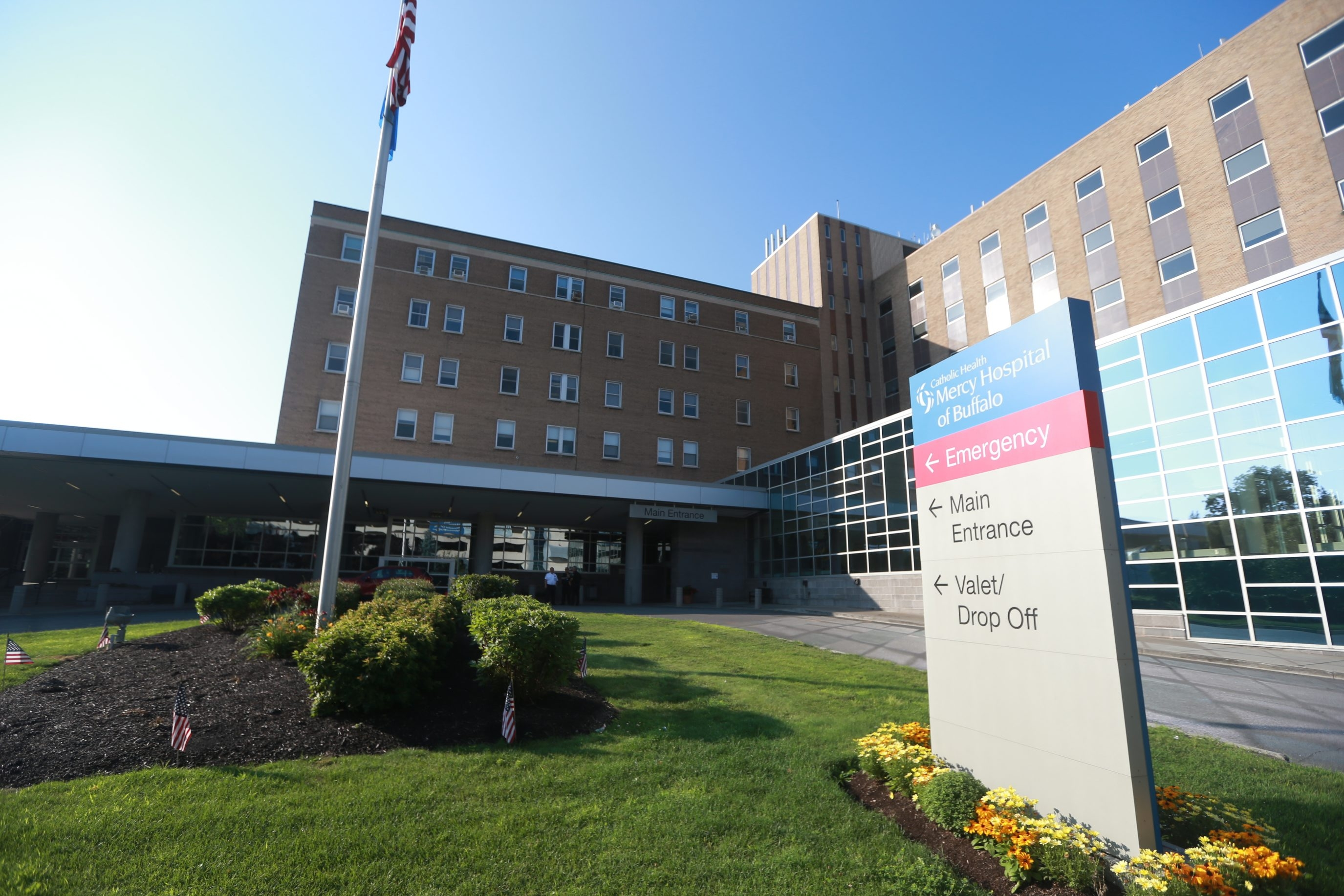 Registered nurses and service, technical and clerical associates at Mercy Hospital of Buffalo are among the employees expected to receive wage increases and improvements in staffing and pension contributions under their new contract with Catholic Health Systems. (John Hickey/Buffalo News)