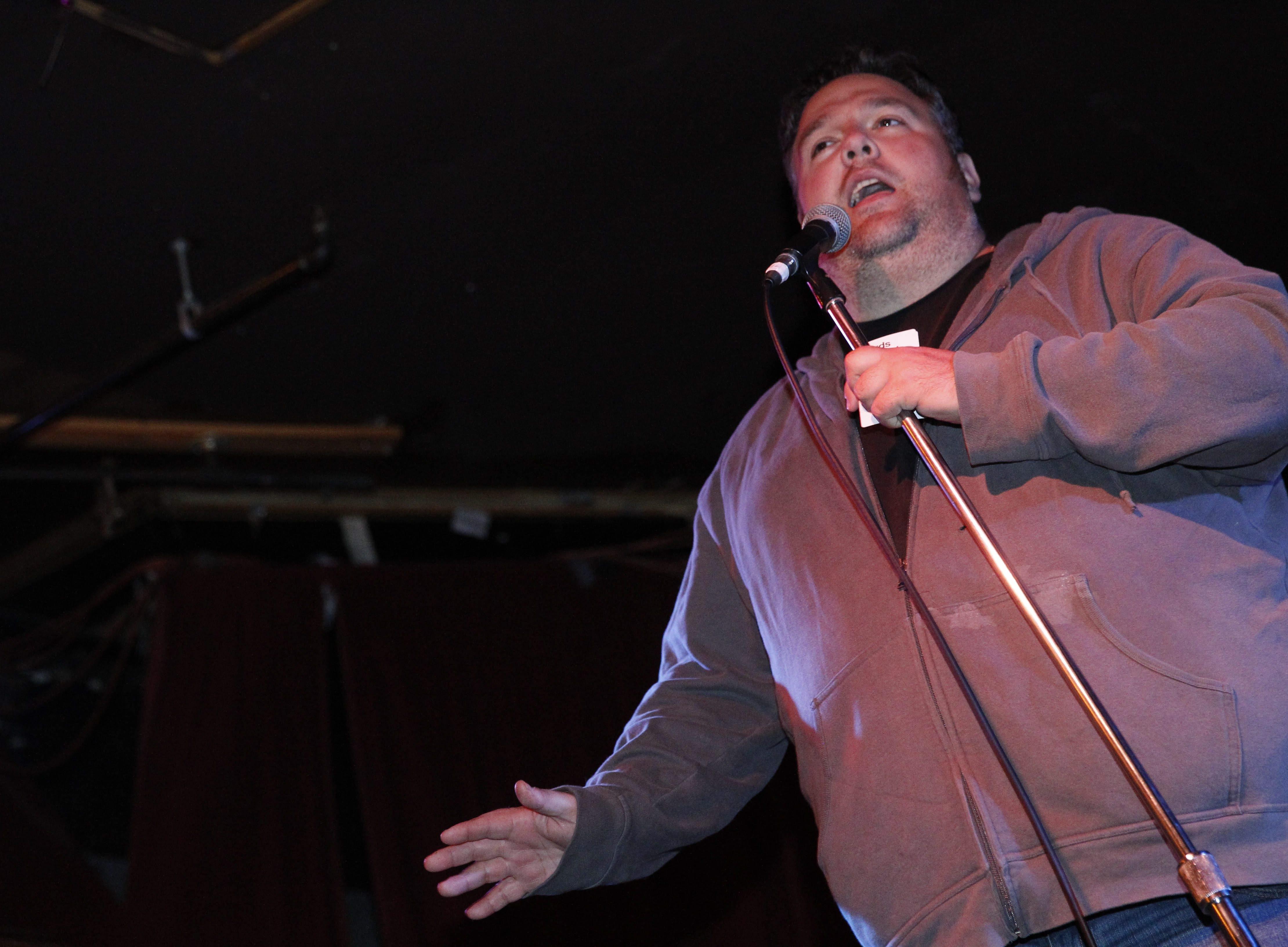 "Rick Matthews is host of  ""Comics Against Humanity."""