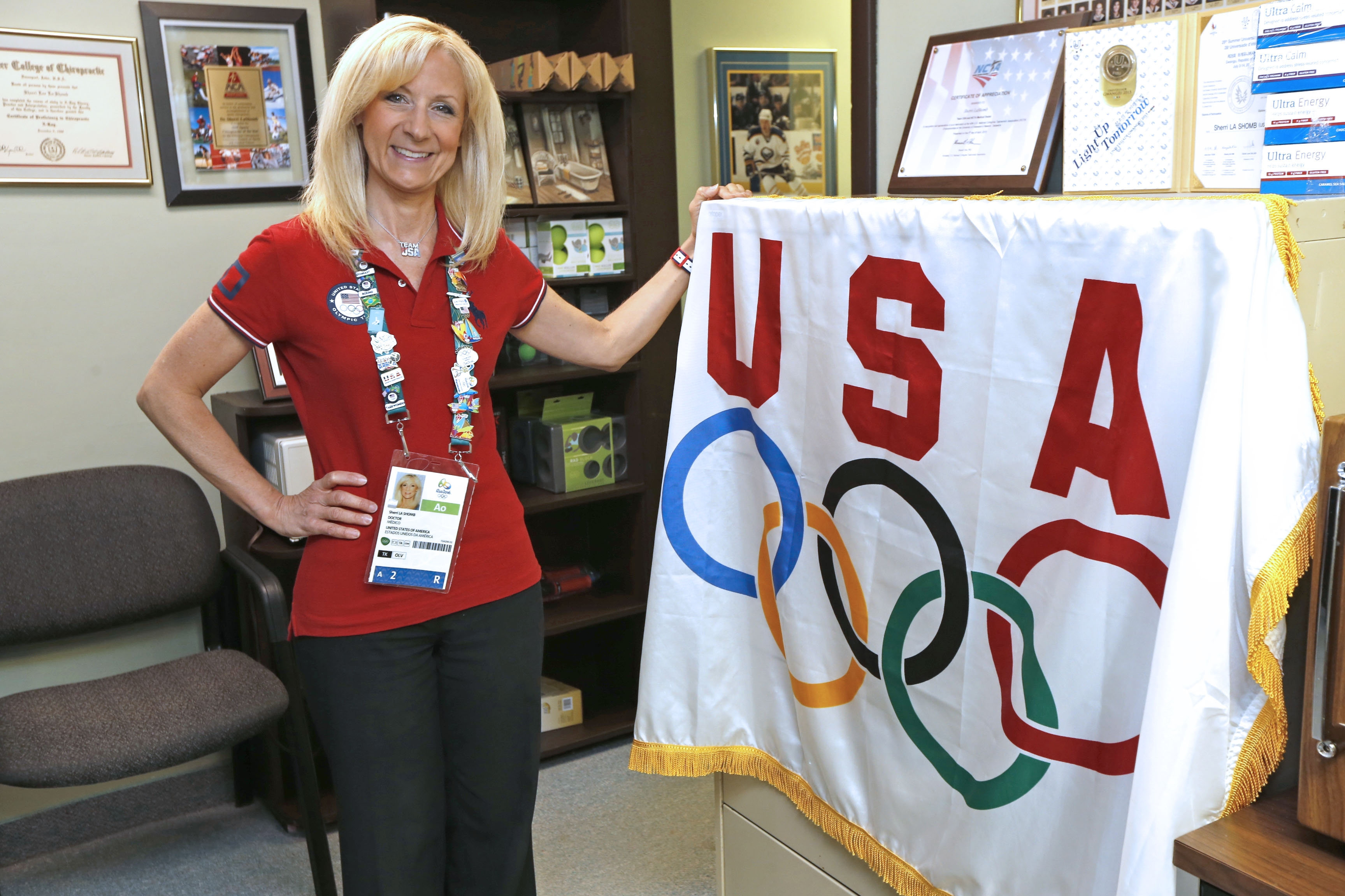 Dr. Sherri LaShomb just returned from the Olympics in Rio, where she was chiropractor and athletic trainer to USA Taekwondo team.