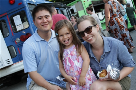 Smiles at Food Truck Rodeo at the History Museum